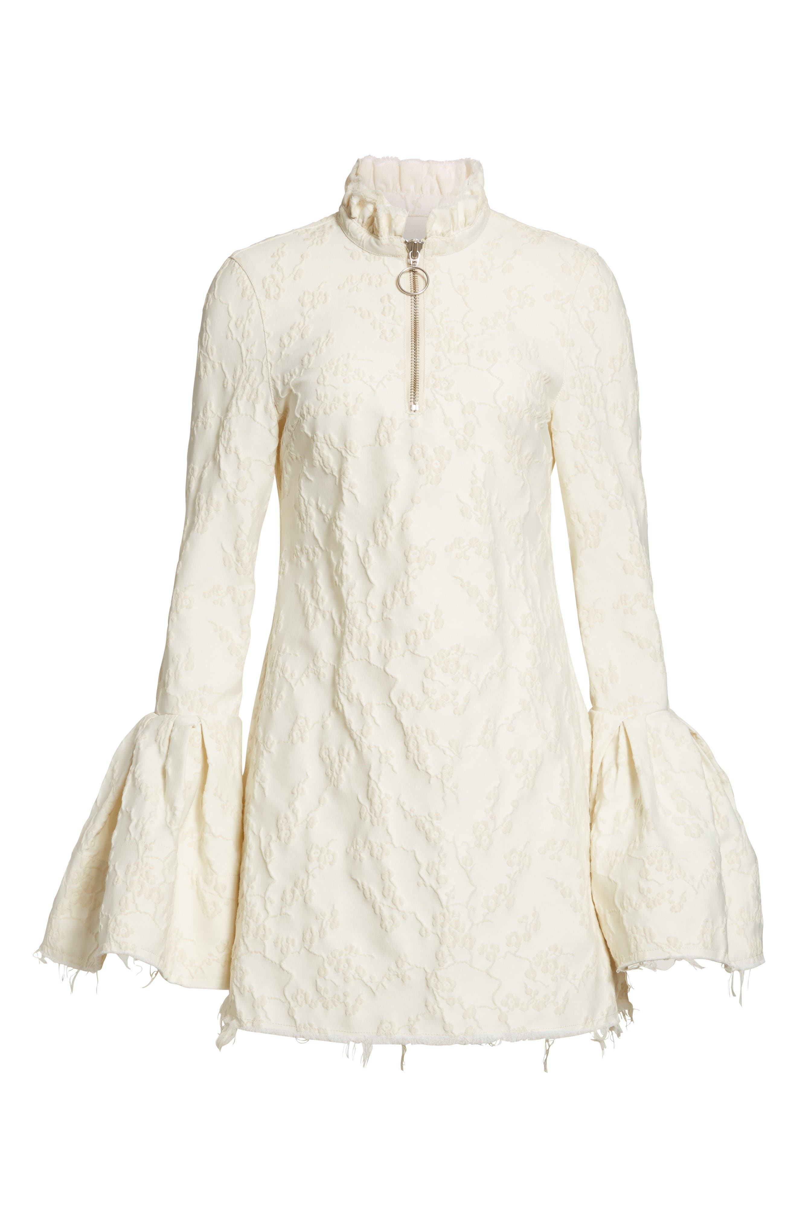 Alternate Image 4  - Marques'Almeida Bell Sleeve Minidress