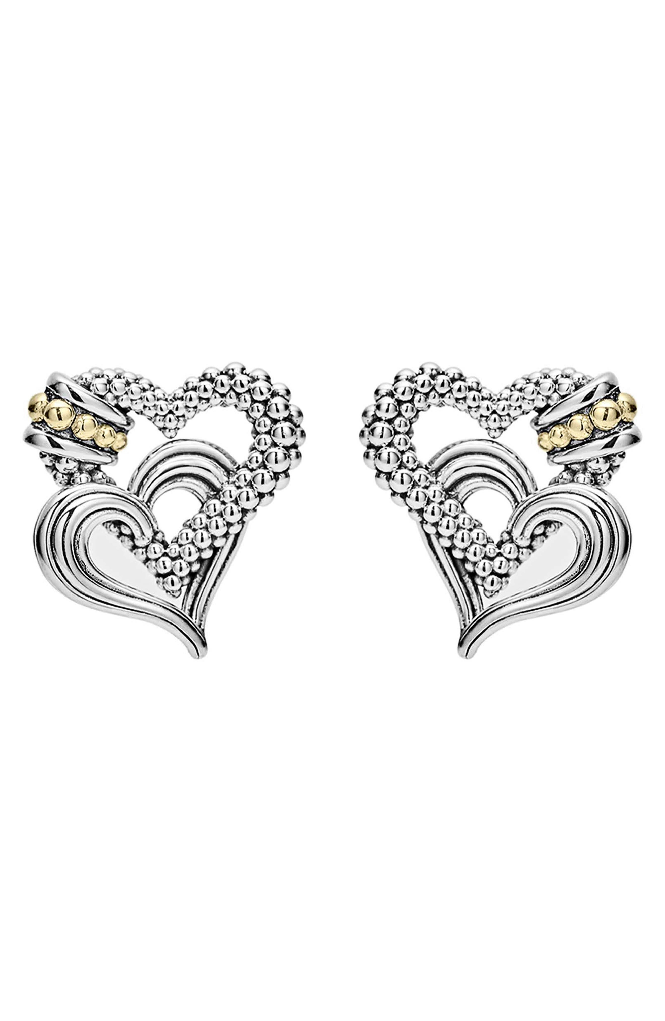 Beloved Stud Earrings,                             Alternate thumbnail 2, color,                             Sterling Silver