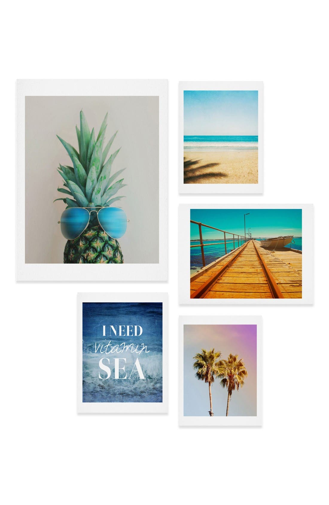 Main Image - Deny Designs Tropical Five-Piece Gallery Wall Art Print Set