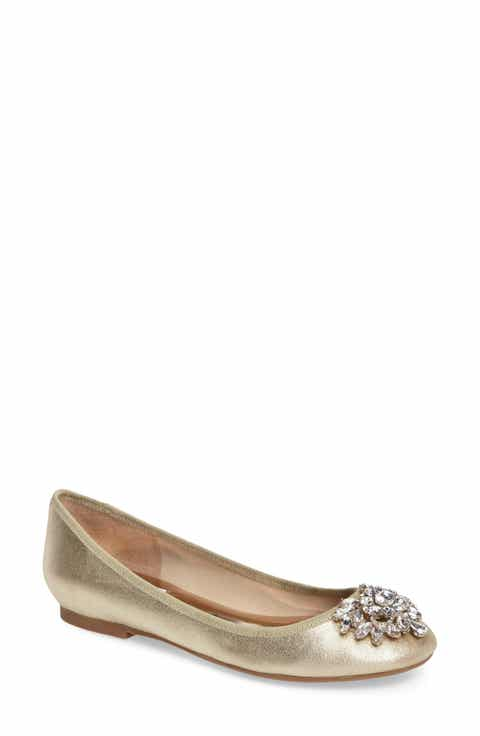 Badgley Mischka Bianca Embellished Ballet Flat Women
