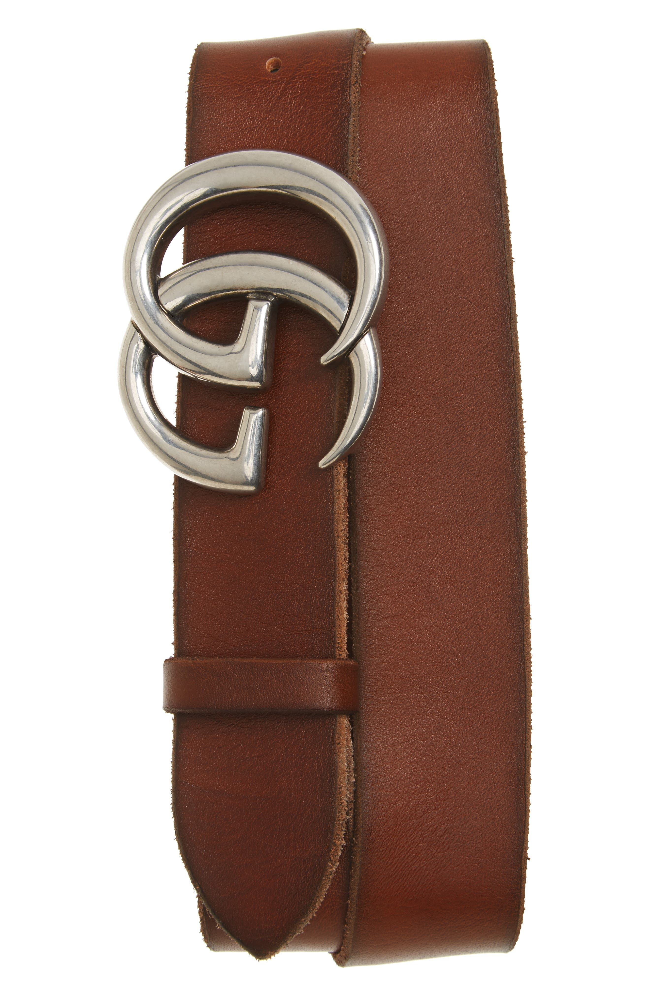 Alternate Image 1 Selected - Gucci Distressed Leather Belt