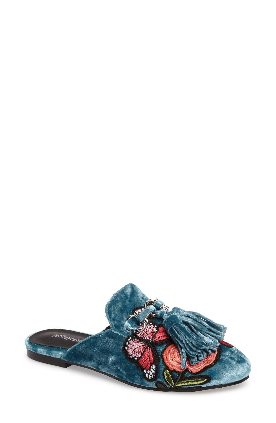Main Image - Jeffrey Campbell Apfel Flower Tassel Loafer Mule (Women)