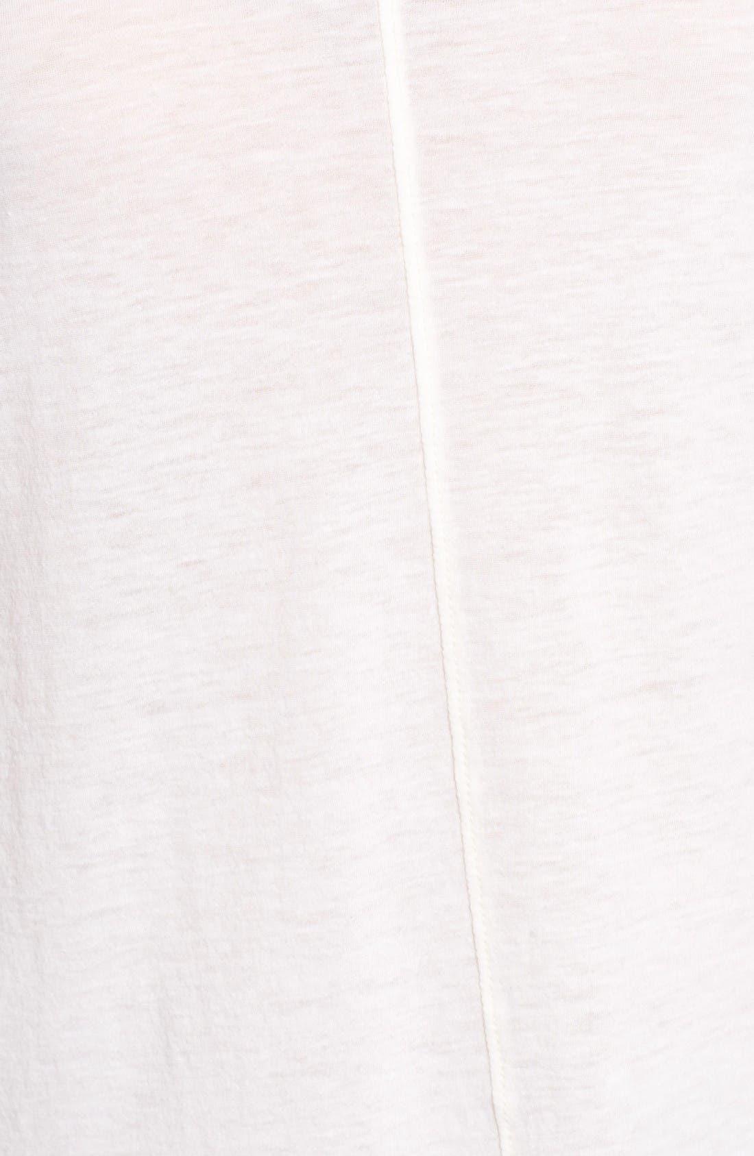 The Jade Cotton & Cashmere Tee,                             Alternate thumbnail 5, color,                             Powder White