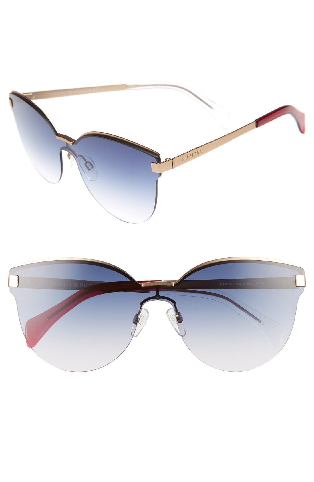 Tommy Hilfiger 99mm Rimless Cat Eye Sunglasses