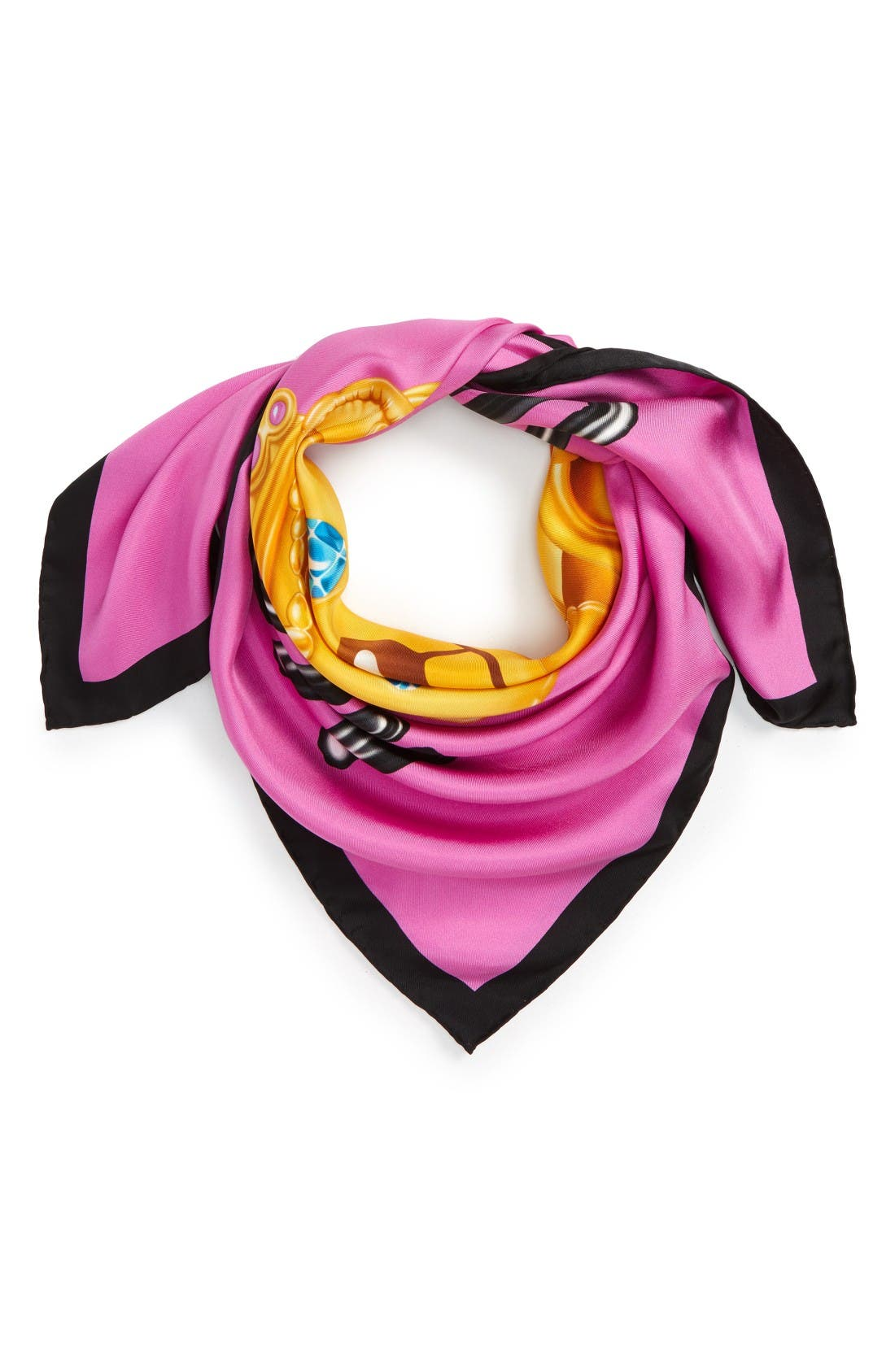 Alternate Image 2  - Moschino Bear Print Silk Scarf
