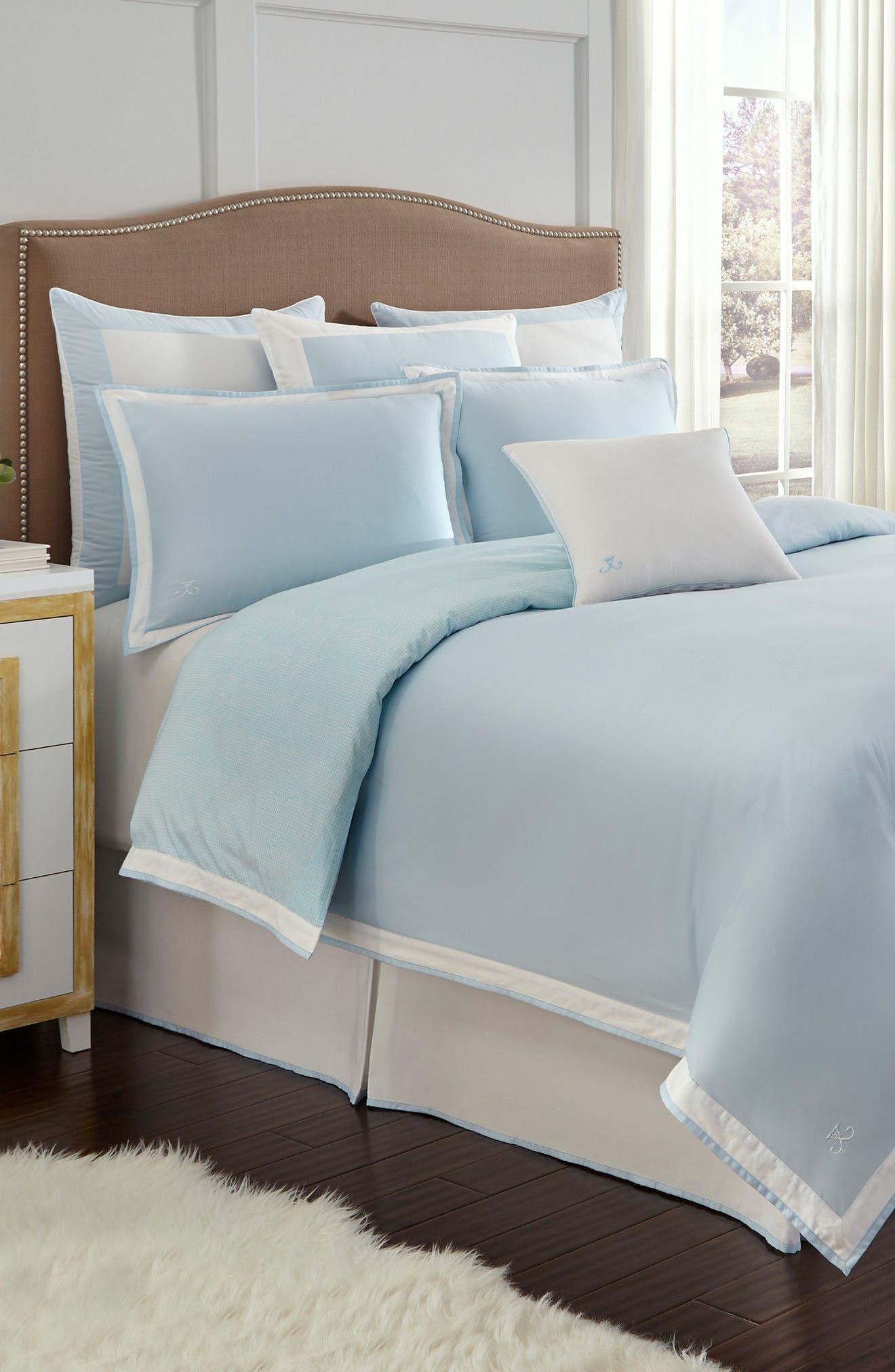 Sugarhouse Comforter,                         Main,                         color, Blue Glow/ White