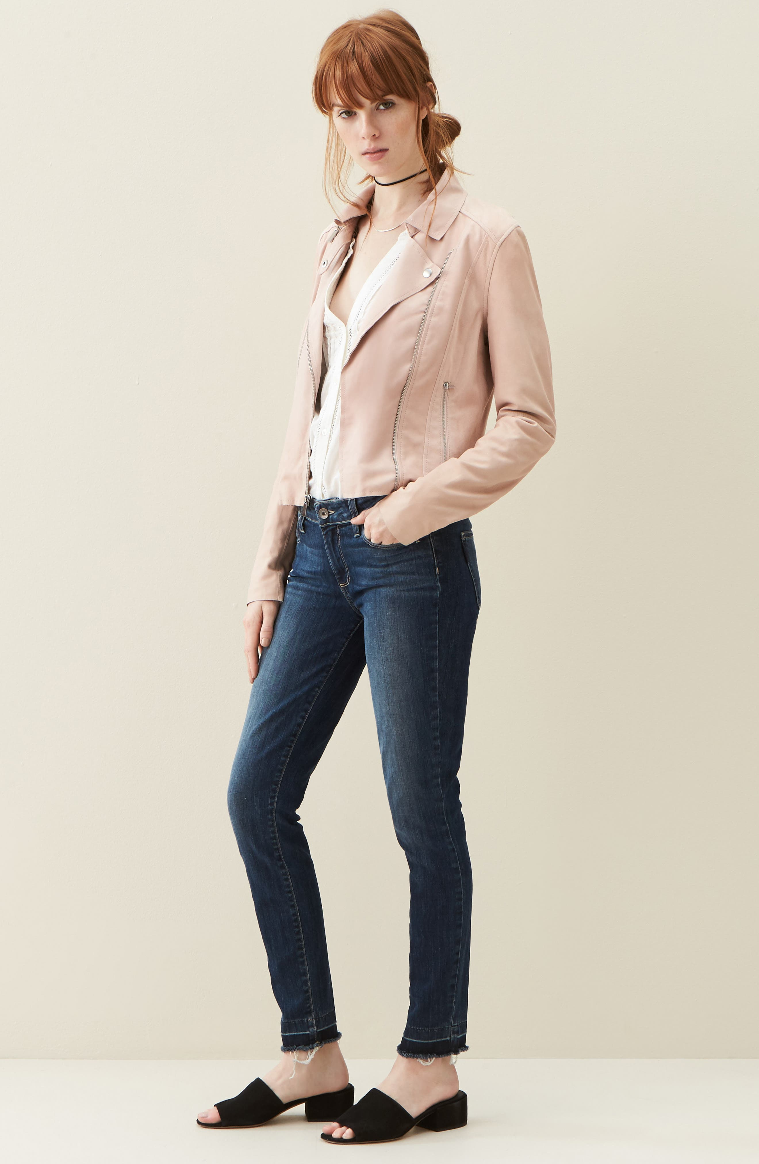 PAIGE Jacket, Blouse & Jeans Outfit with Accessories