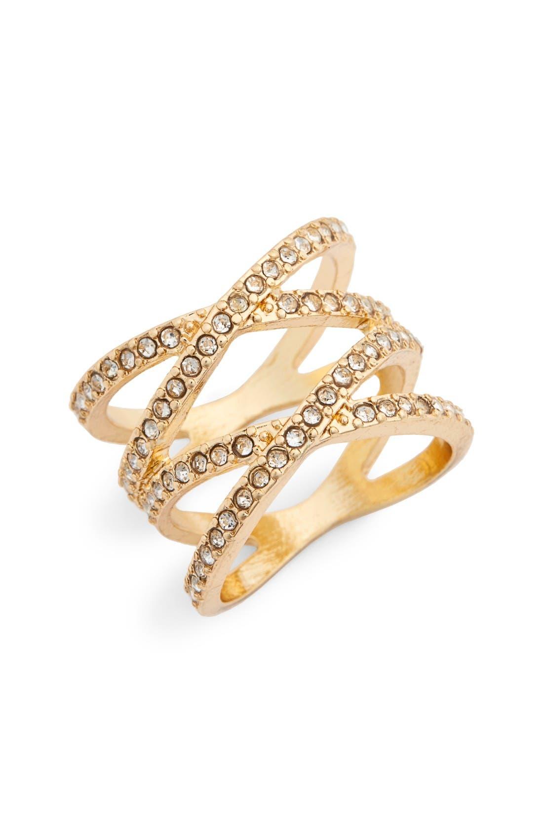 Main Image - BP. Pavé Crisscross Ring