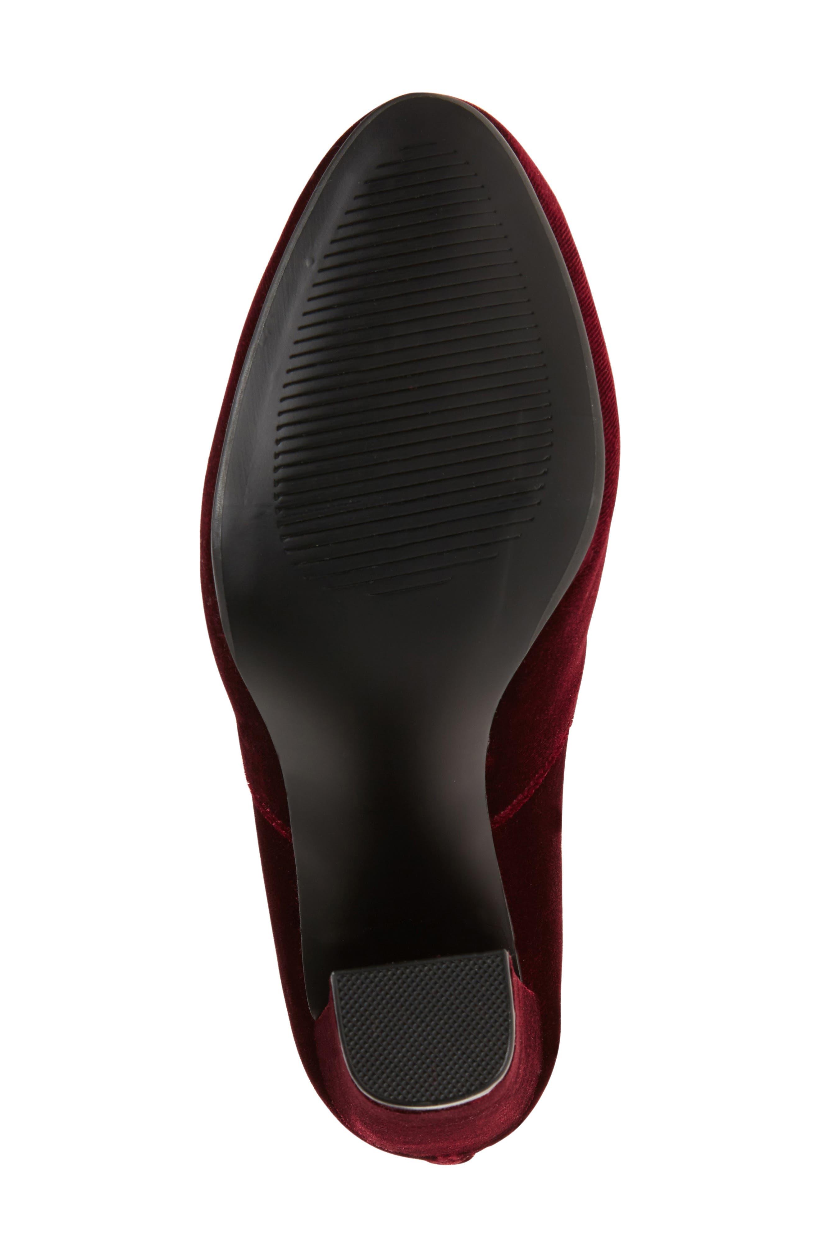 Emotionv Over the Knee Boot,                             Alternate thumbnail 4, color,                             Burgundy Velvet