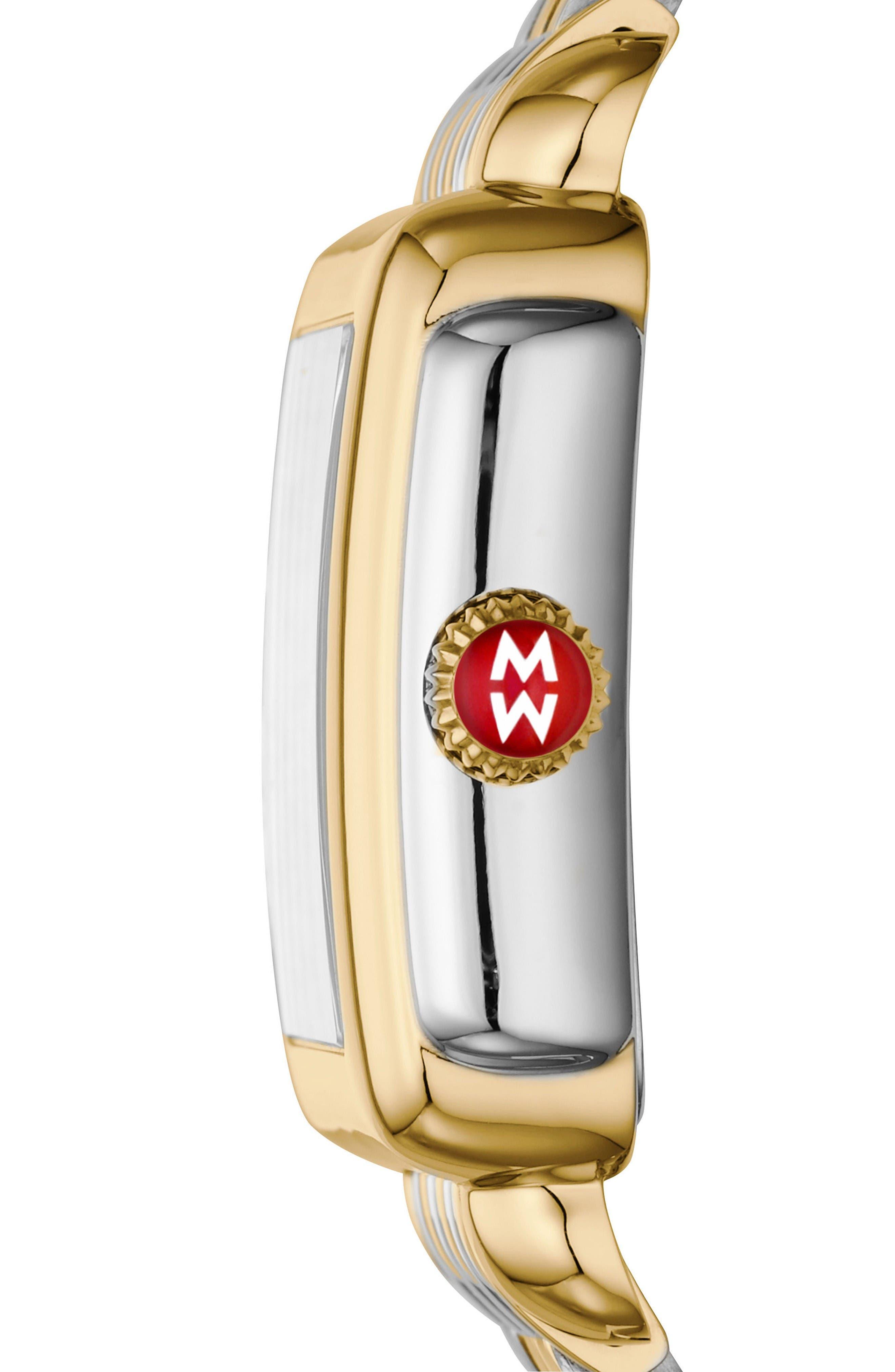 Alternate Image 3  - MICHELE Deco Madison Diamond Dial Watch Case, 33mm x 35mm