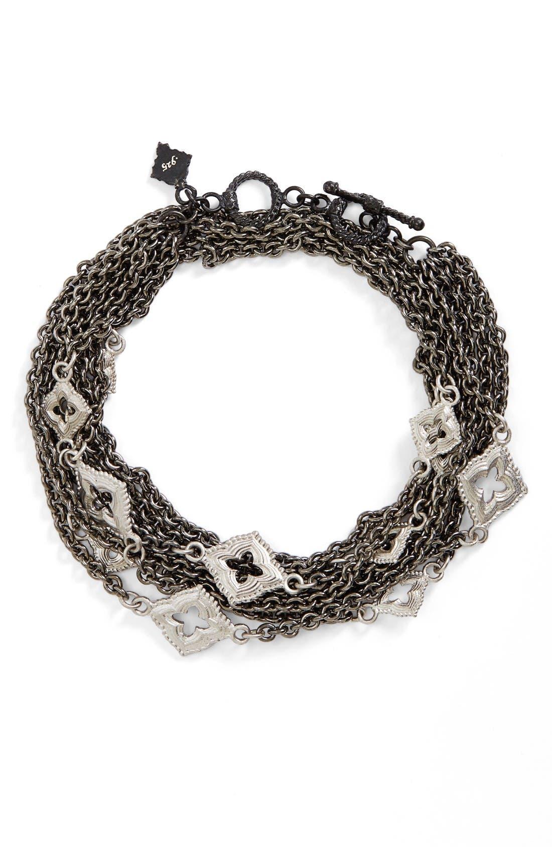 New World Double Wrap Scroll Bracelet,                         Main,                         color, Black