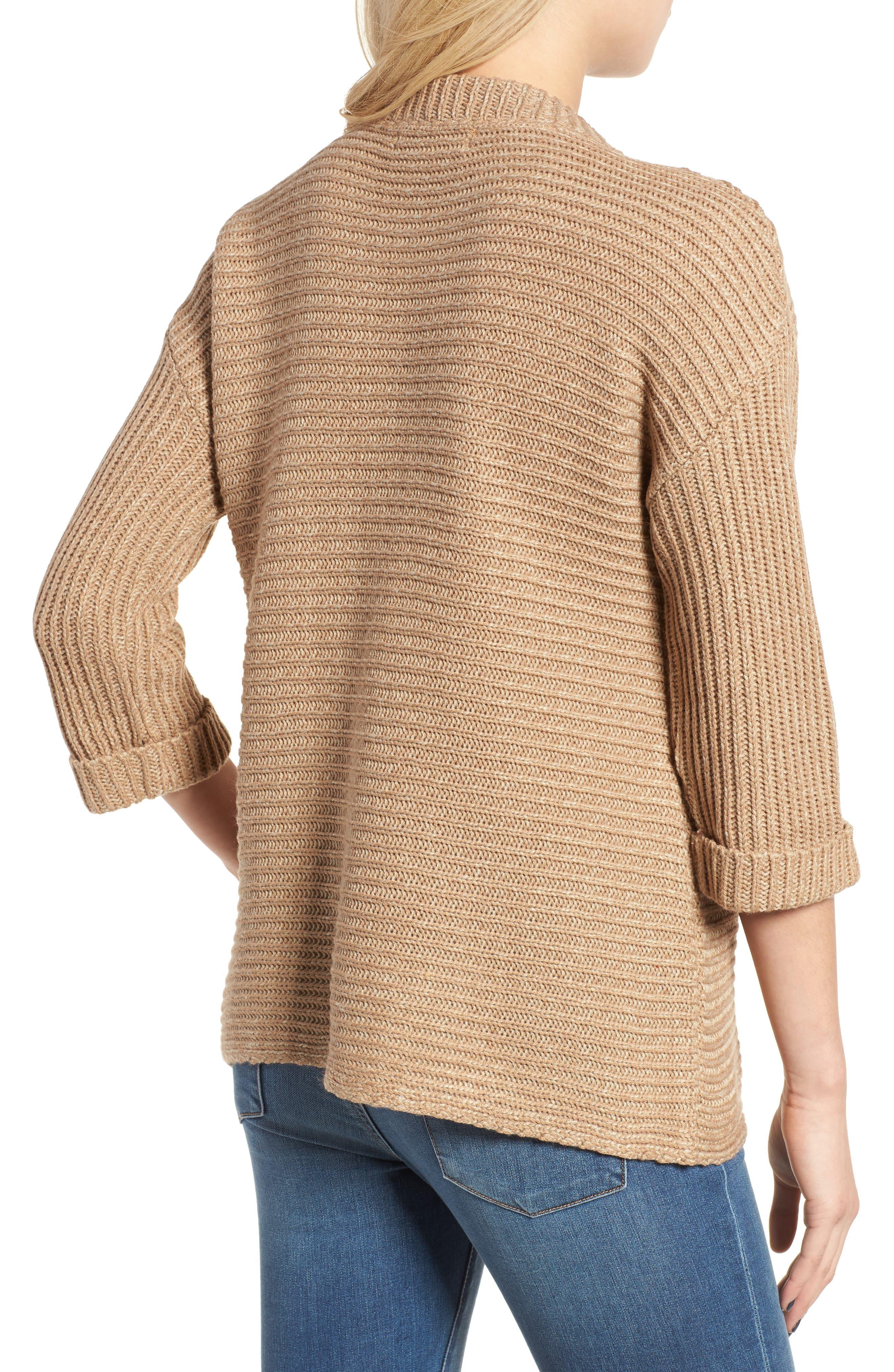 Alternate Image 2  - Cotton Emporium Texture Knit Pullover
