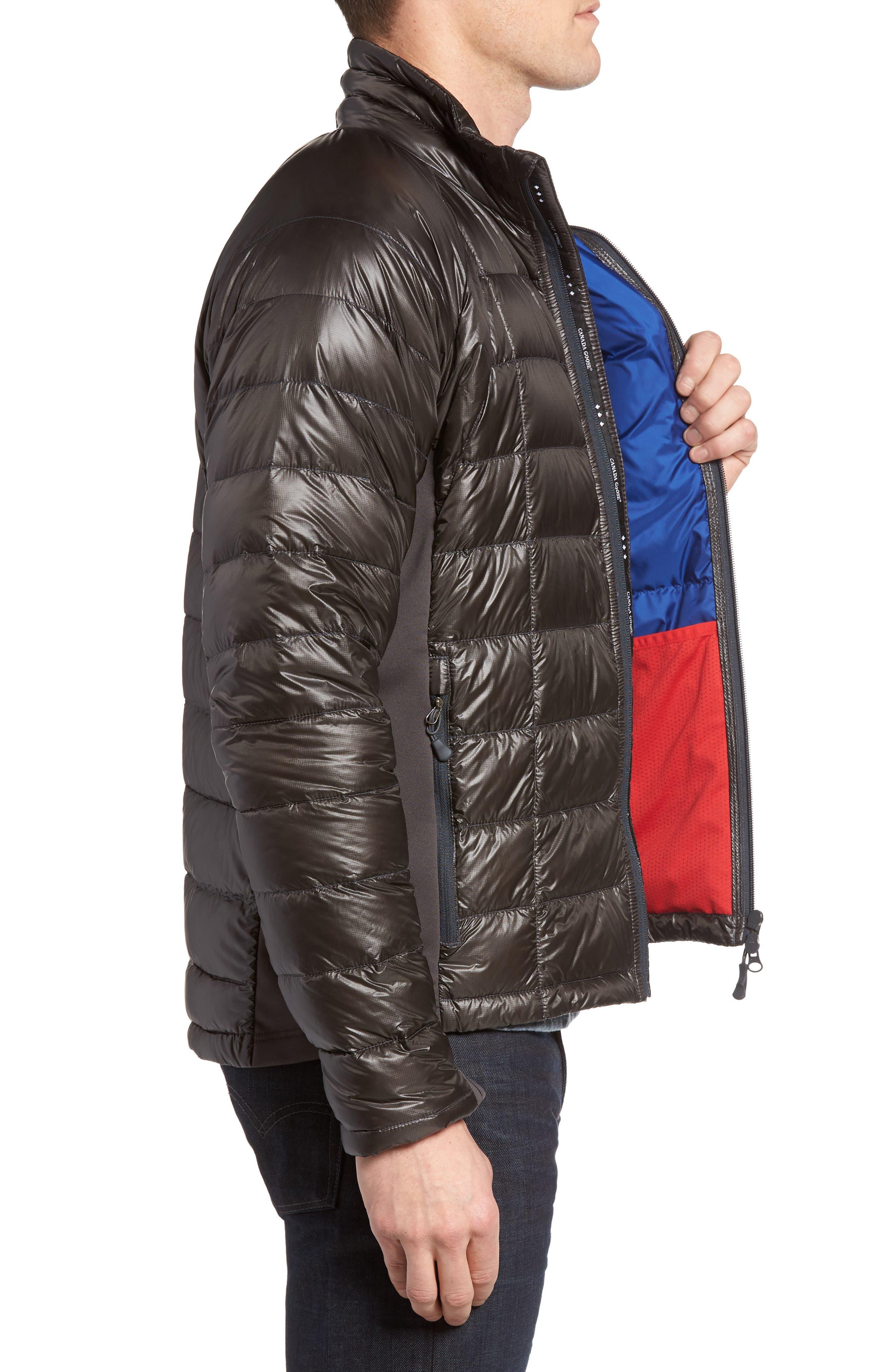 'Hybridge<sup>™</sup> Lite' Slim Fit Packable Jacket,                             Alternate thumbnail 3, color,                             Graphite/ Pacific Blue