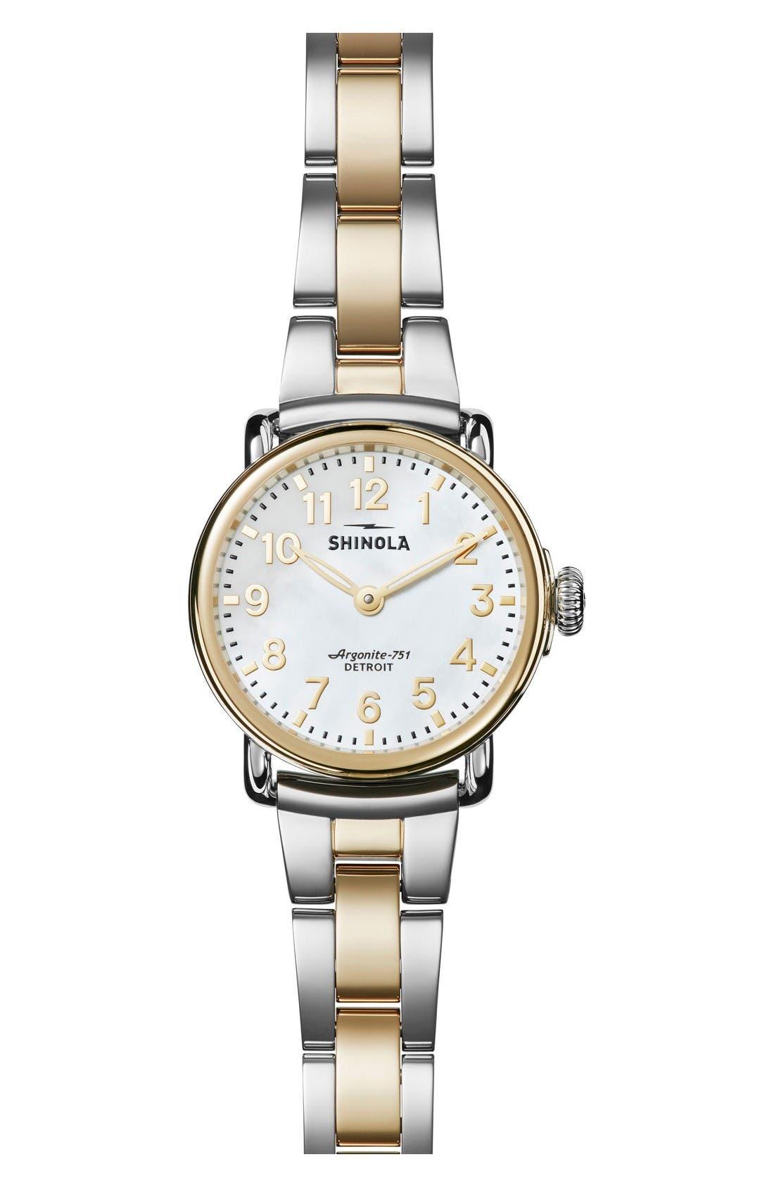 Shinola Runwell Bracelet Watch, 28mm