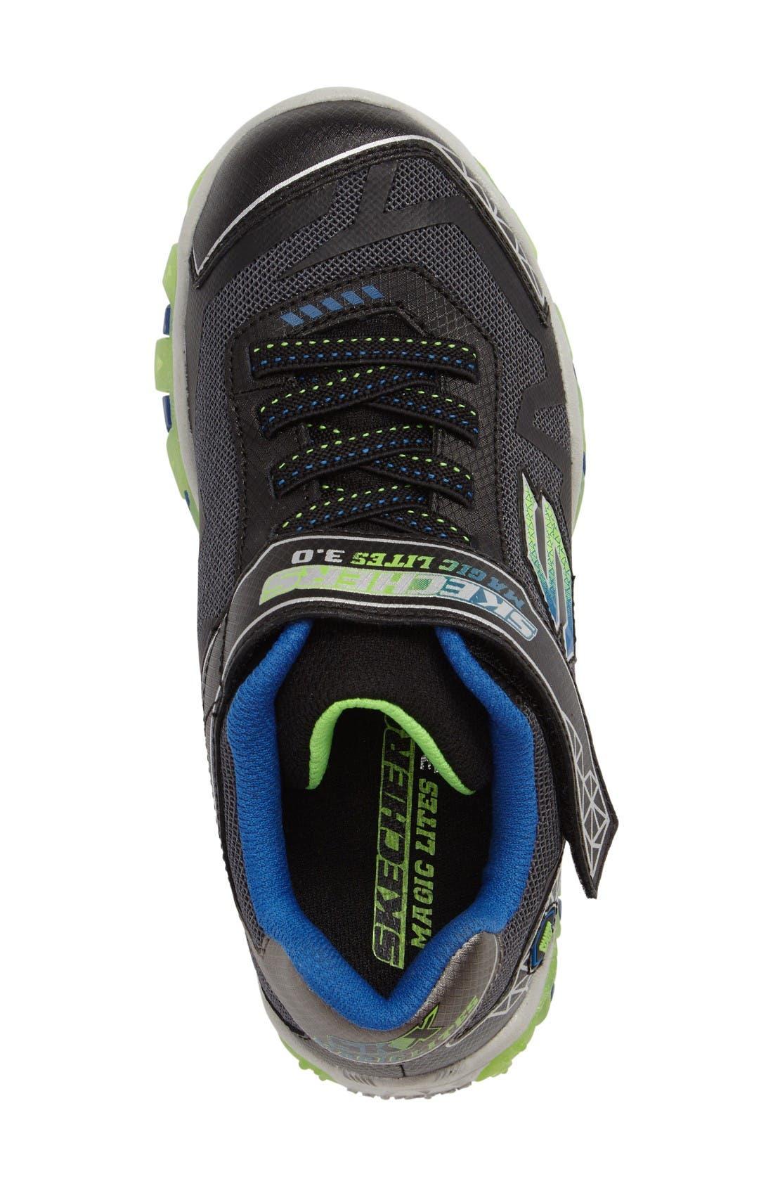 Magic Lites - Street Lightz 2.0 Light-Up Sneaker,                             Alternate thumbnail 3, color,                             Black/ Green