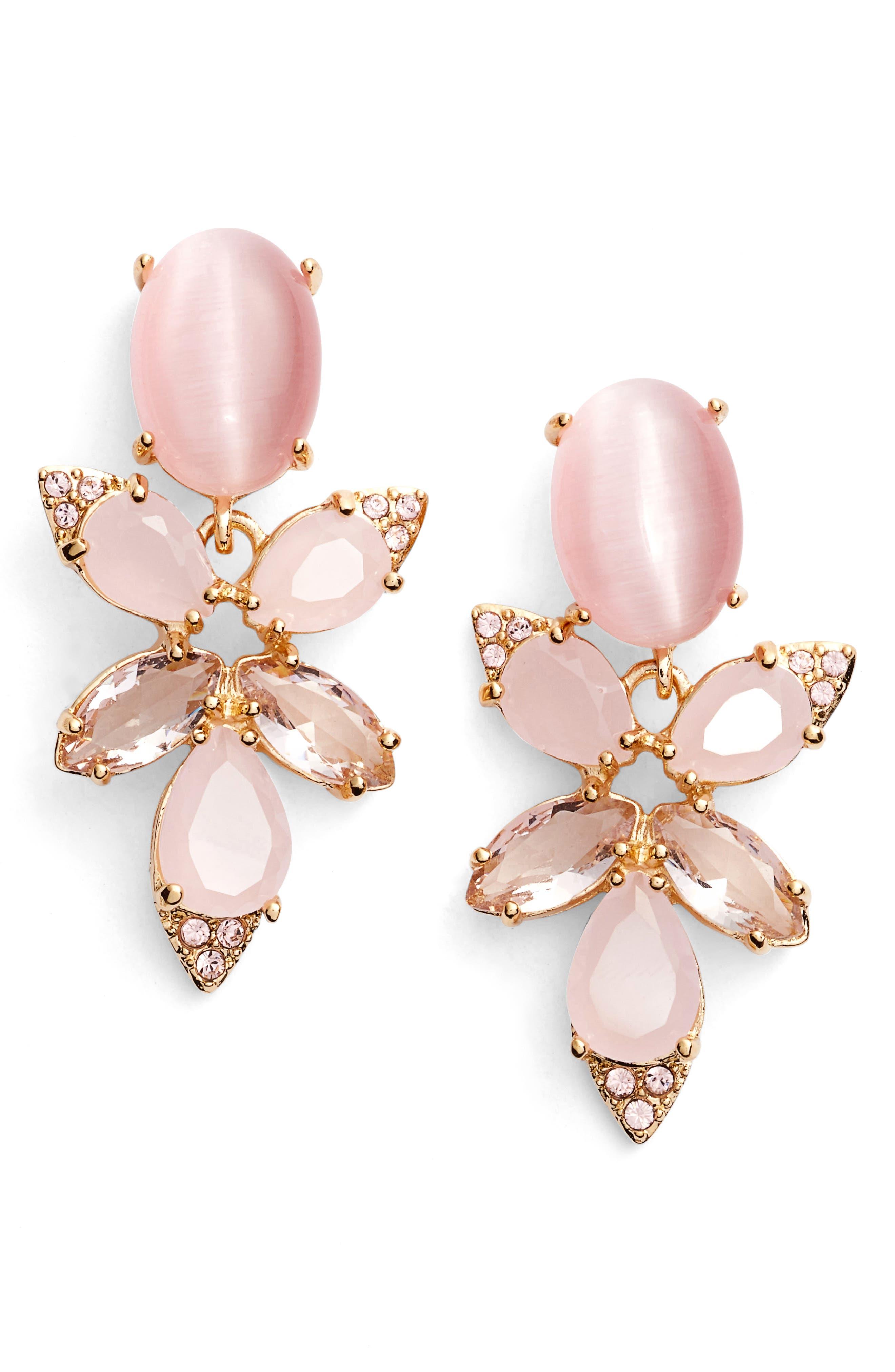 Main Image - kate spade new york blushing blooms drop earrings