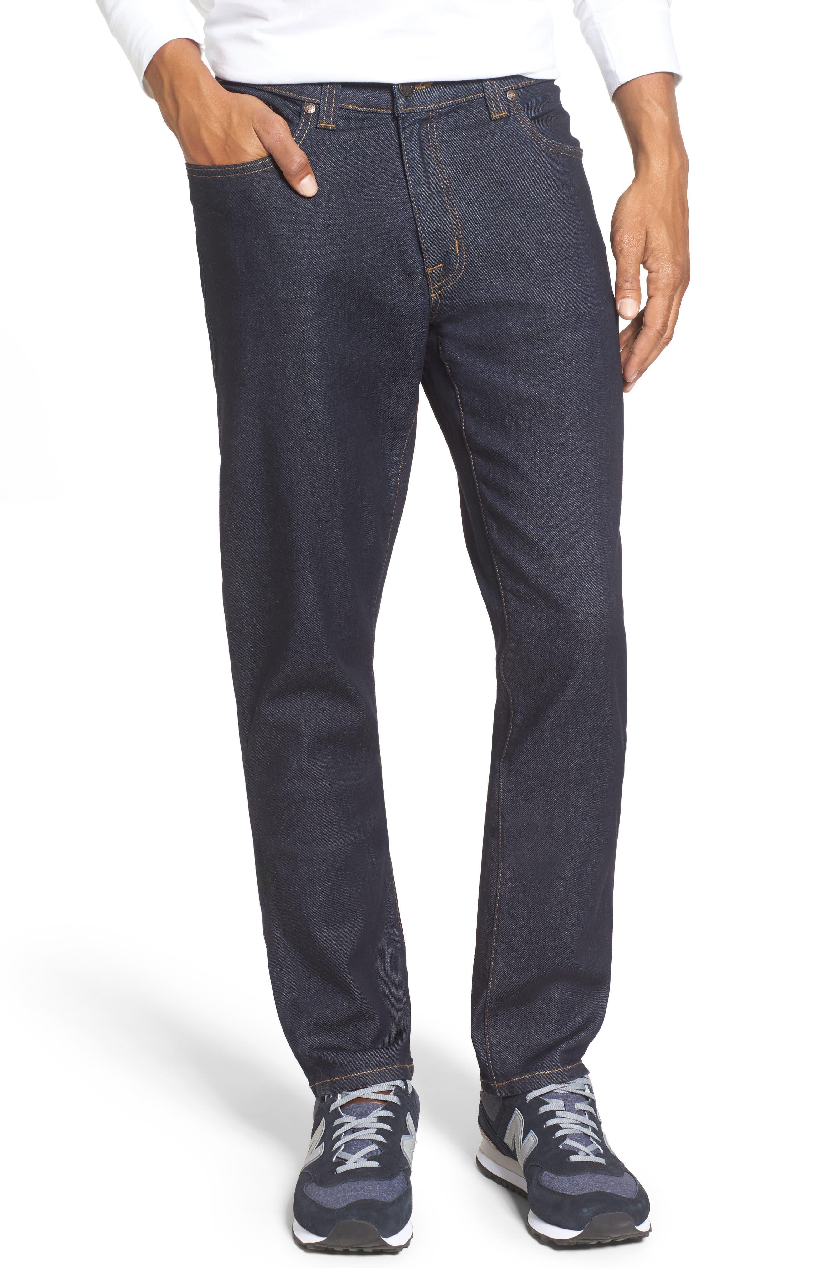 Alternate Image 1 Selected - Fidelity Denim Jimmy Slim Straight Leg Jeans (Halo Rinse)