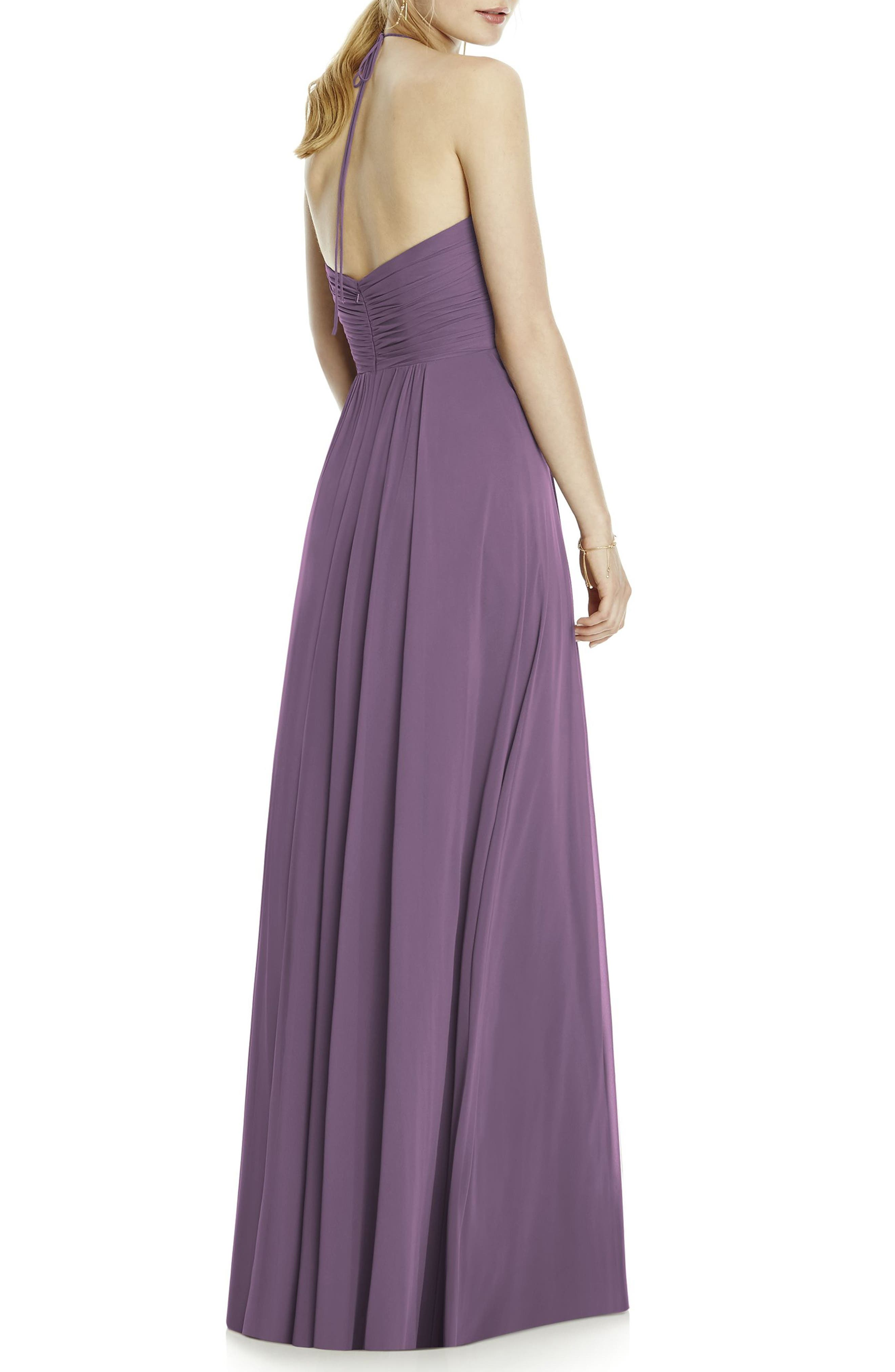Chiffon A-Line Gown,                             Alternate thumbnail 2, color,                             Smashing
