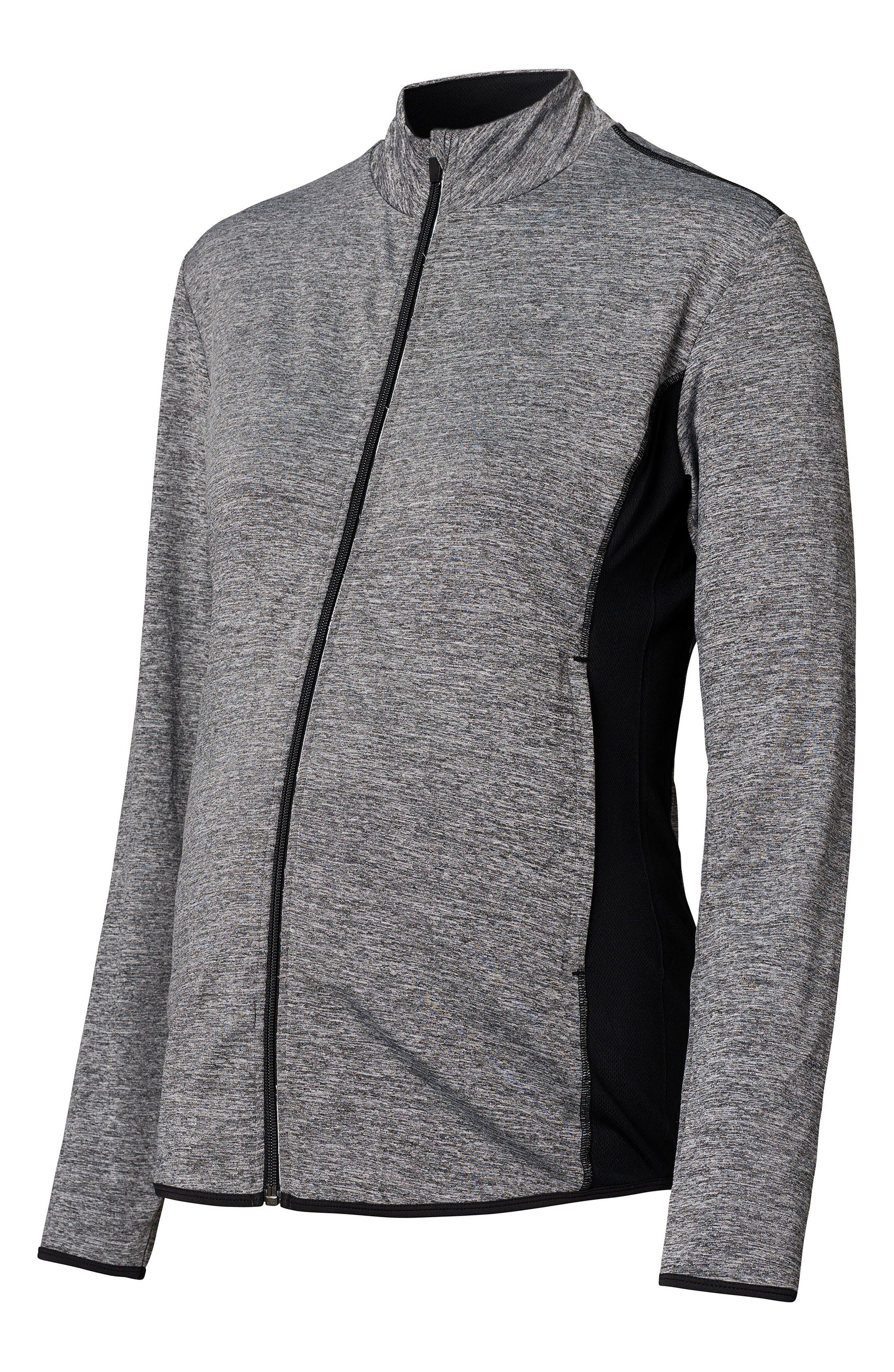 Maternity Jacket,                             Alternate thumbnail 3, color,                             Grey Melange