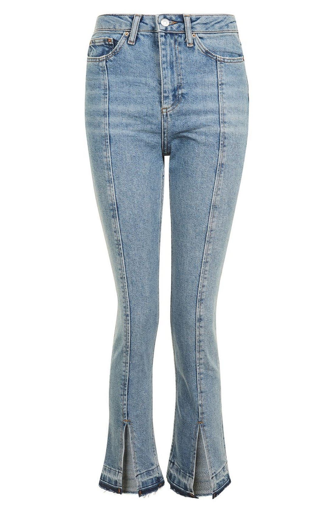 Alternate Image 4  - Topshop Split Hem Straight Leg Jeans
