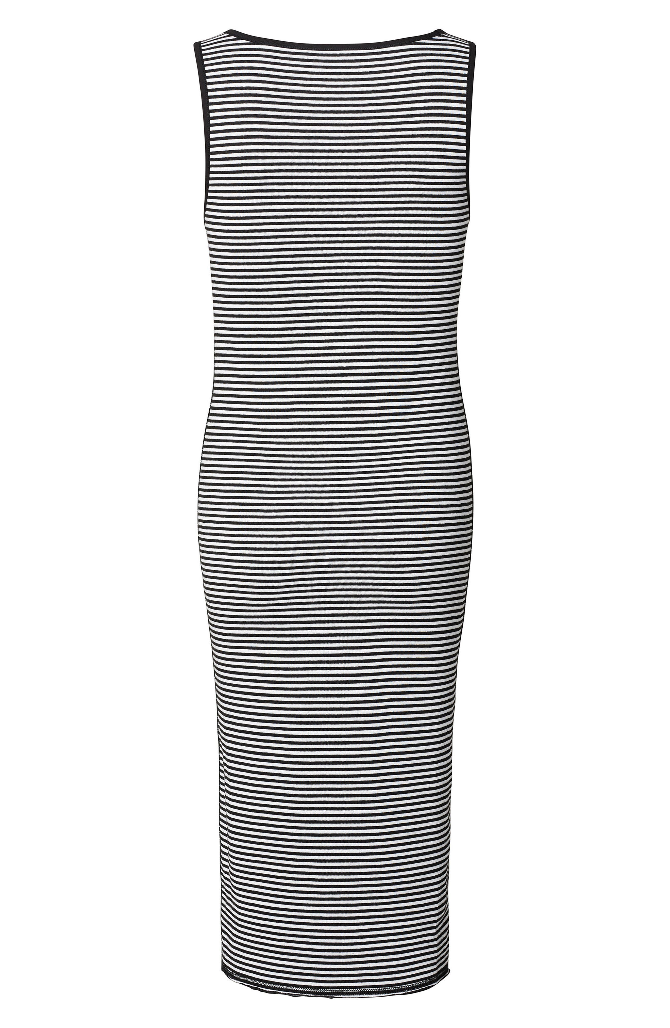 Alternate Image 2  - Noppies Nora Stripe Maternity Tank Dress