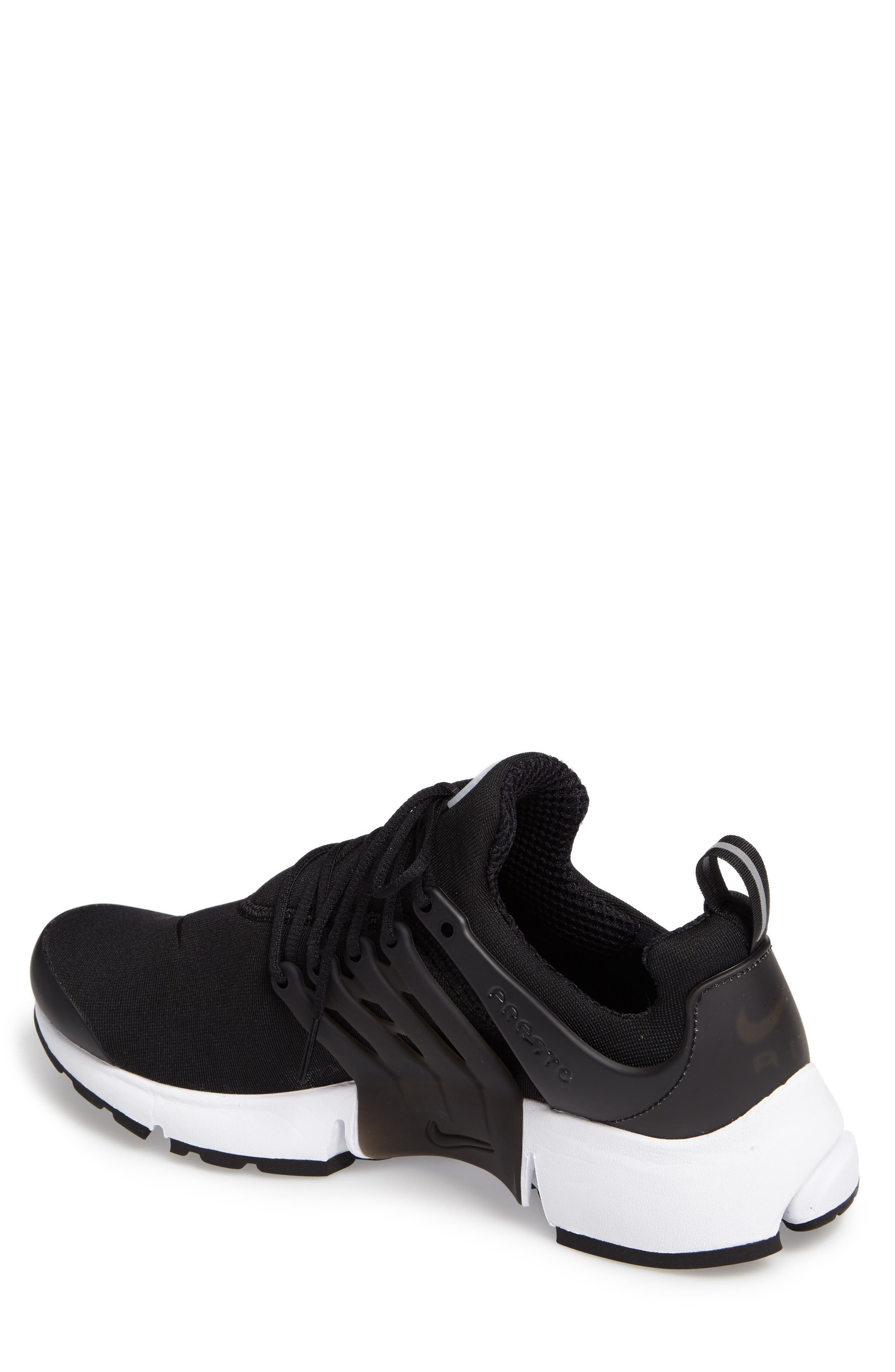 Air Presto Essential Sneaker,                             Alternate thumbnail 2, color,                             Black/ Black/ White