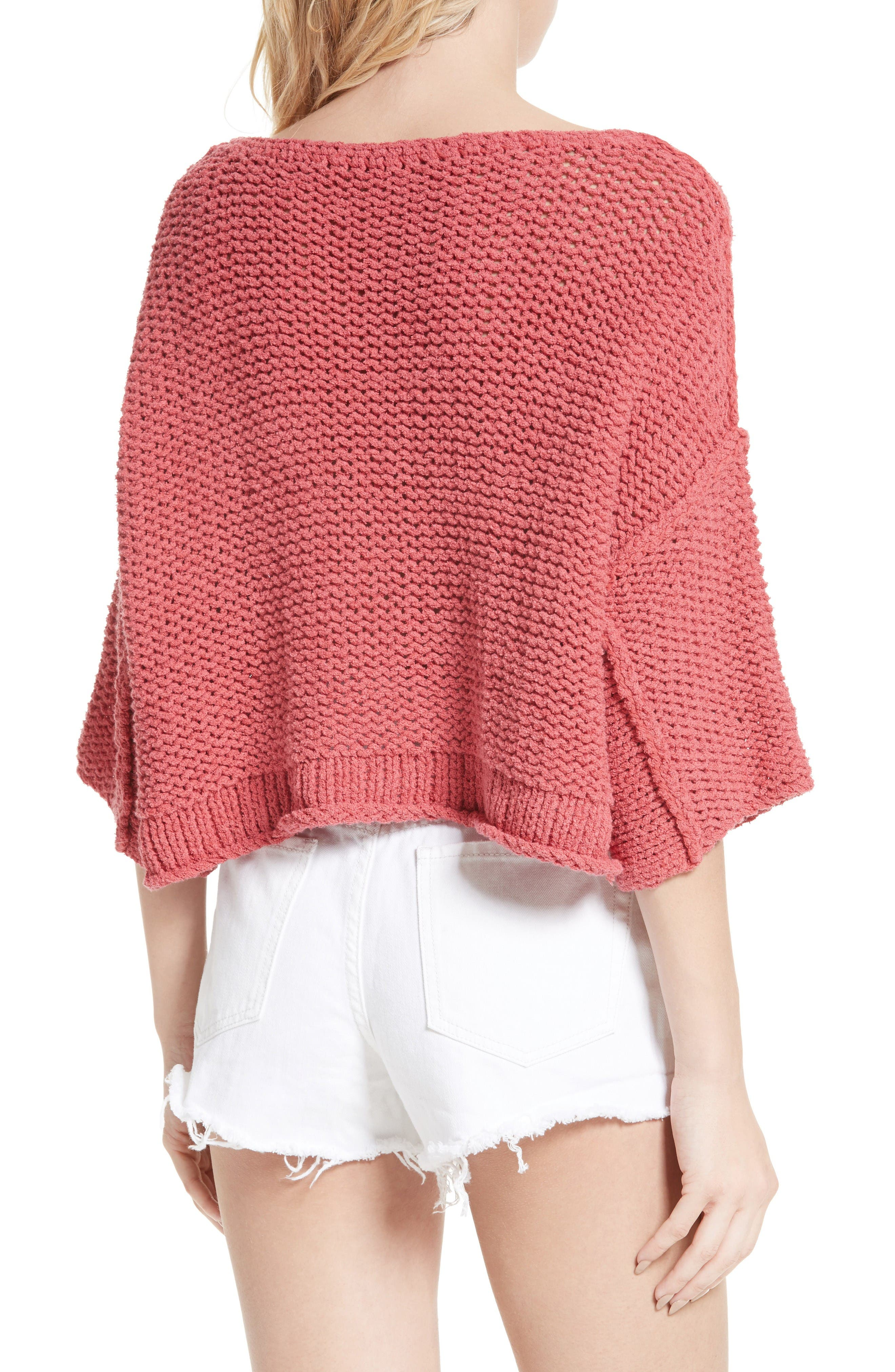 Halo Pullover,                             Alternate thumbnail 2, color,                             Coral