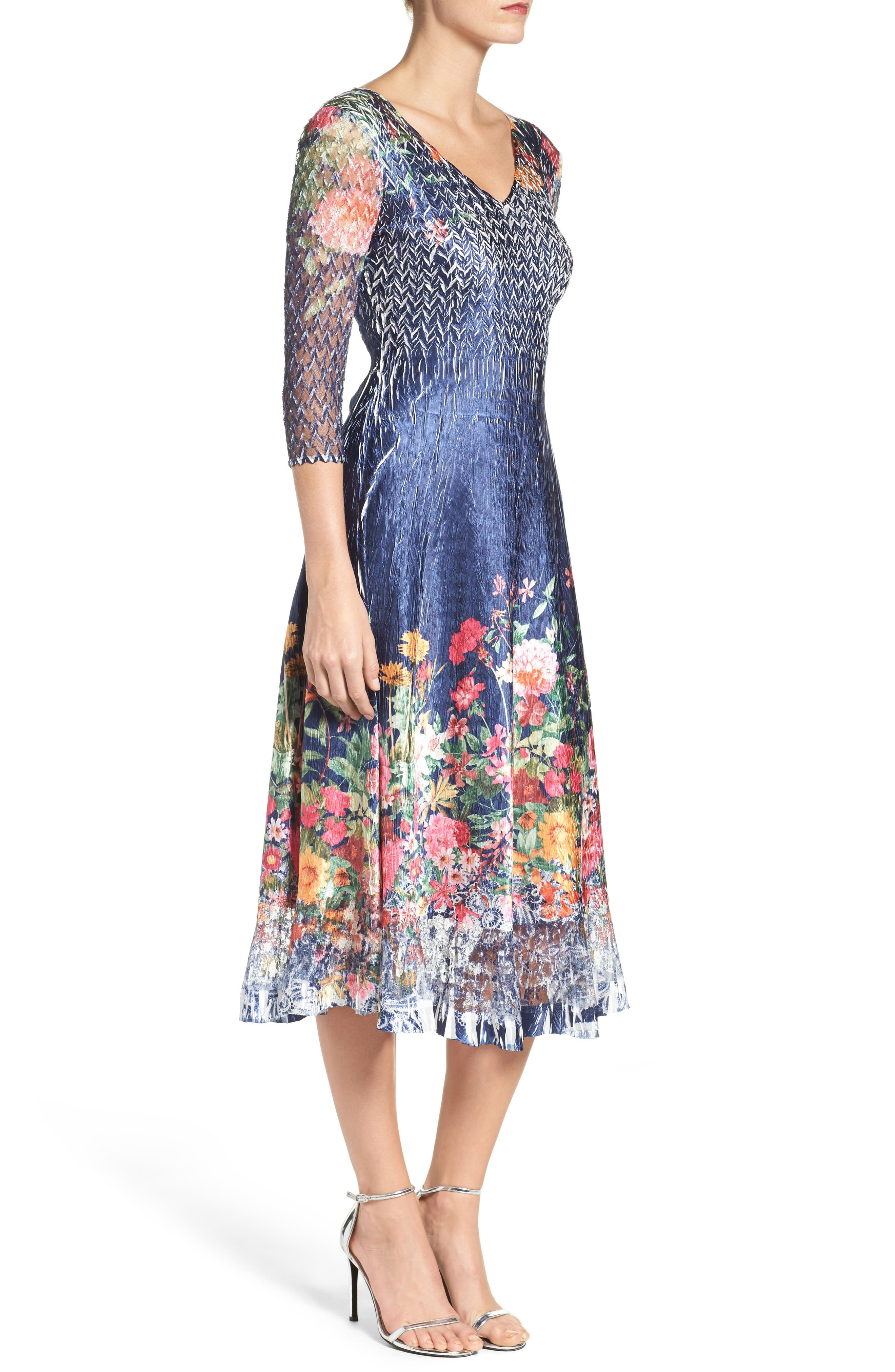 Alternate Image 3  - Komarov Floral Print A-Line Dress