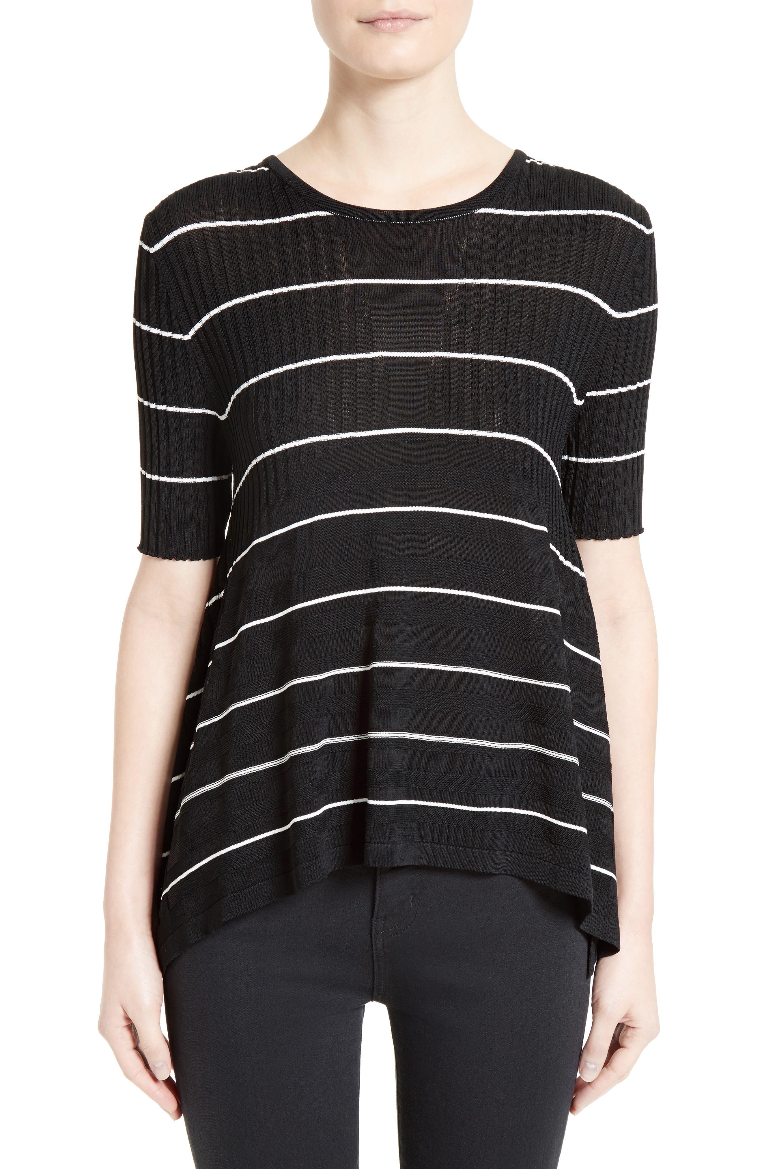 Delta Stripe Top,                         Main,                         color, Black