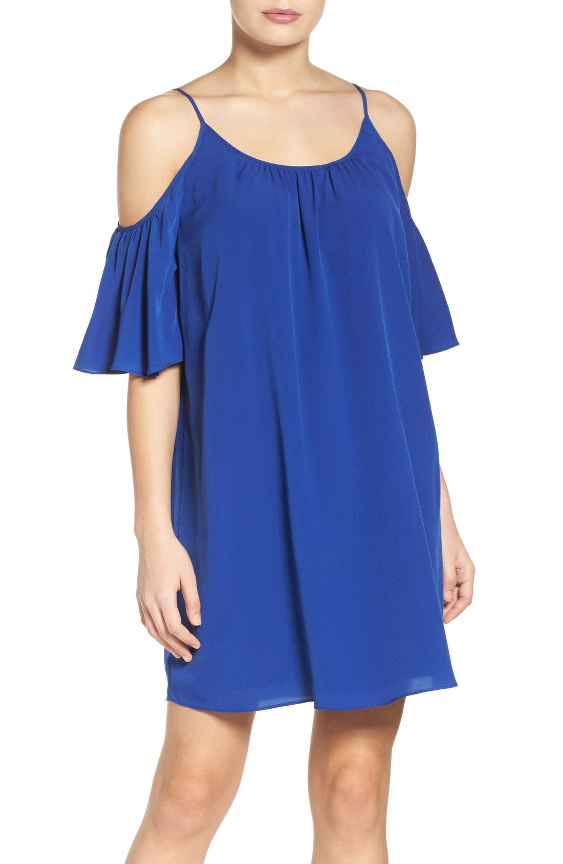 French Connection 'Polly' Cold Shoulder Shift Dress