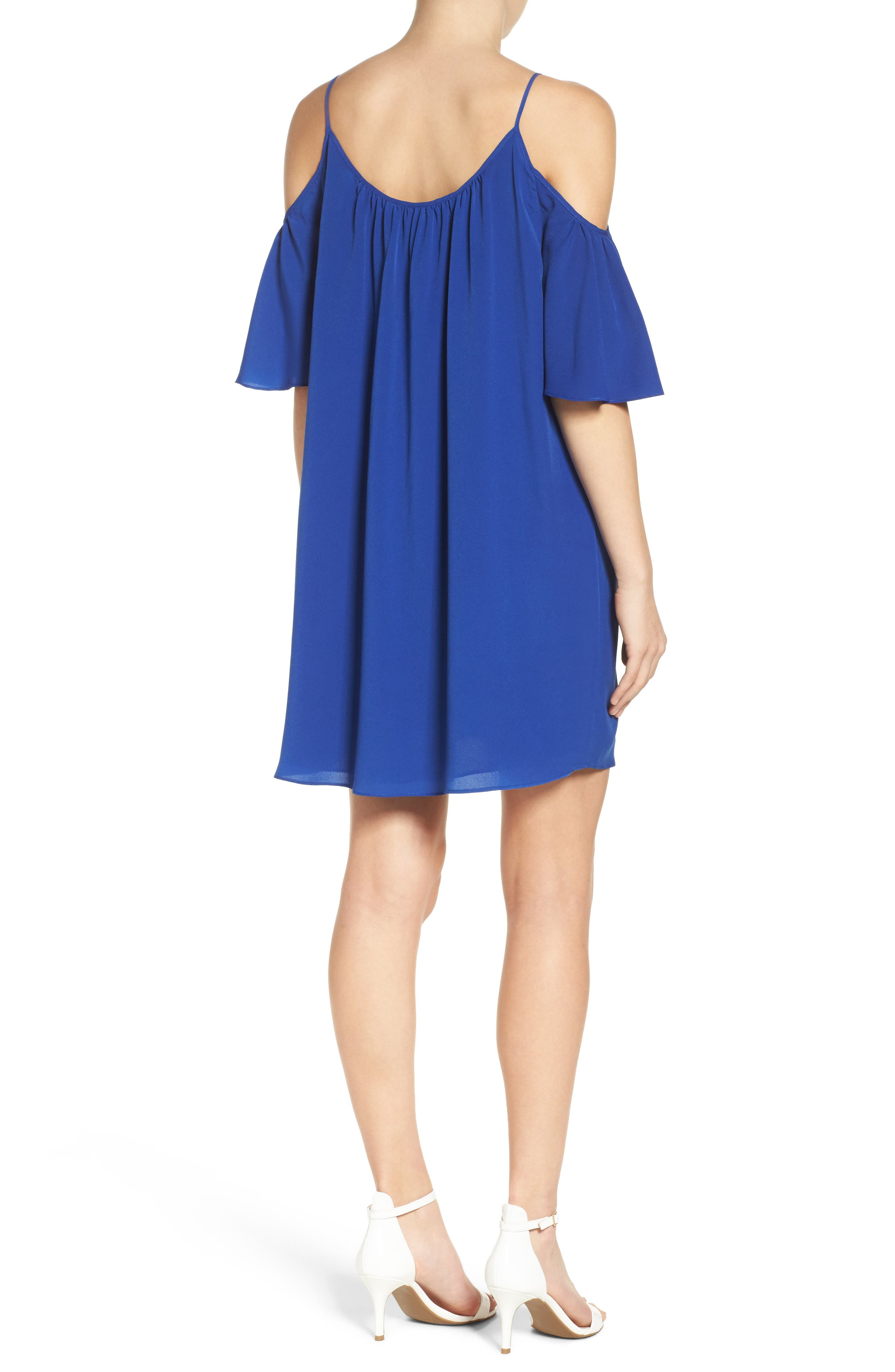 Alternate Image 2  - French Connection 'Polly' Cold Shoulder Shift Dress