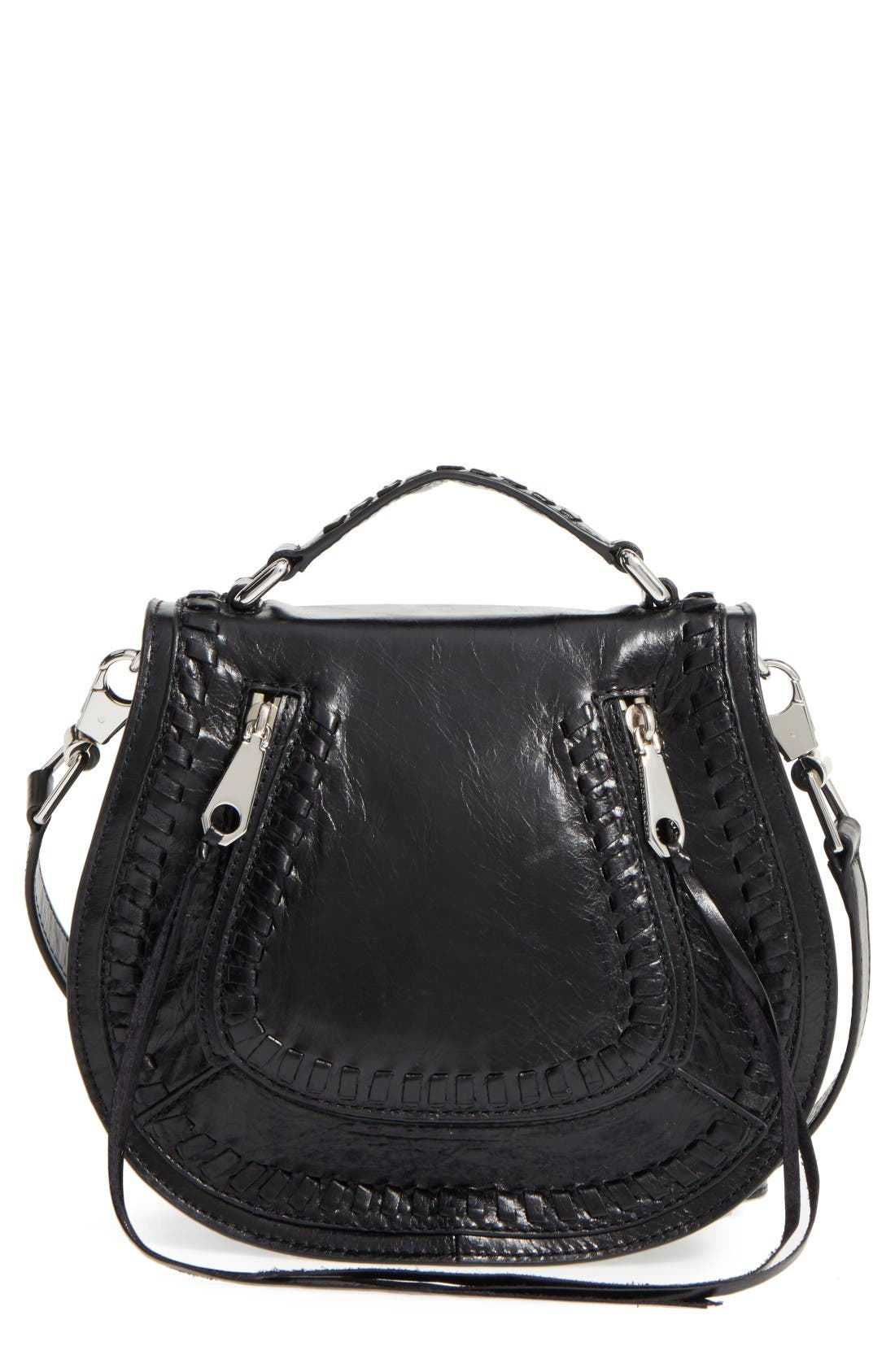 Alternate Image 1 Selected - Rebecca Minkoff Small Vanity Leather Saddle Bag