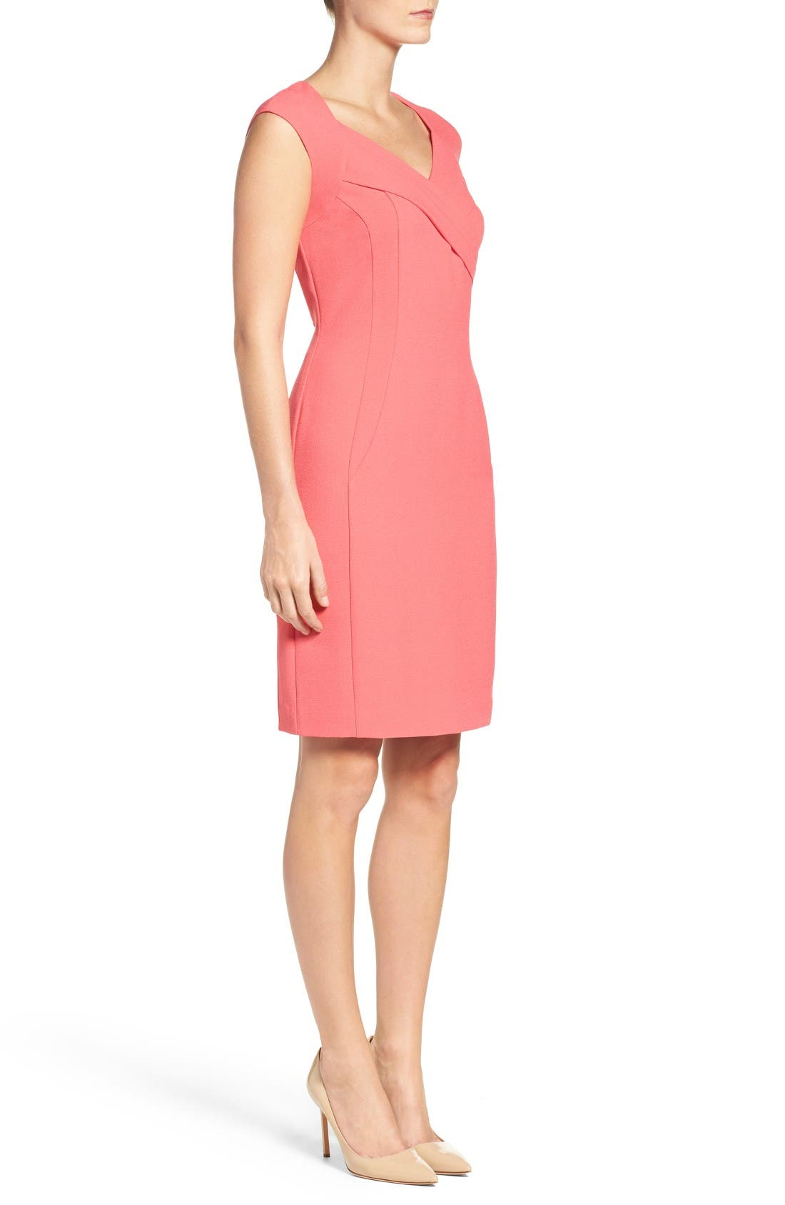 Alternate Image 3  - Ellen Tracy Crepe Sheath Dress
