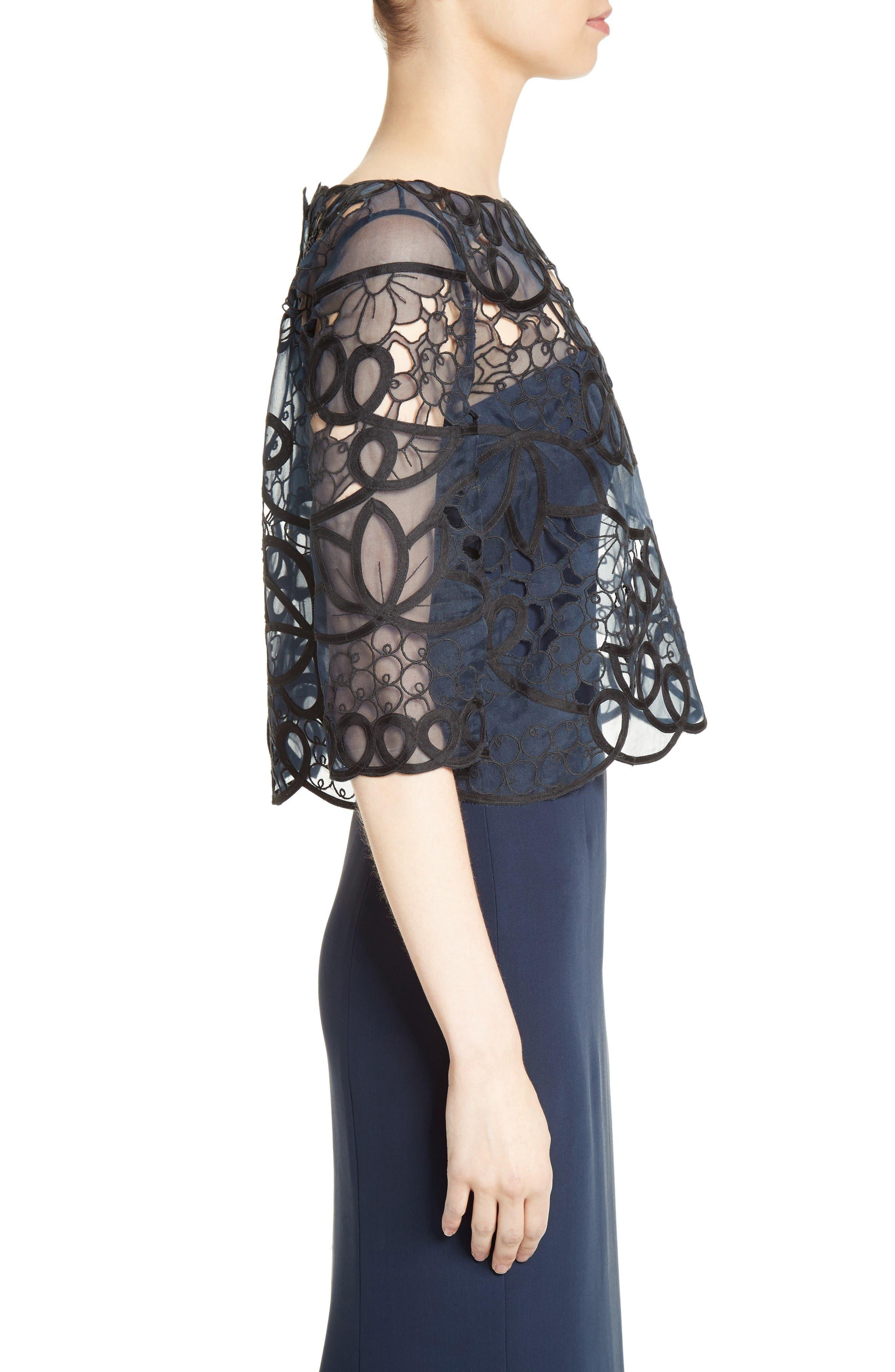 Alternate Image 6  - Carolina Herrera Reversible Lace Bolero