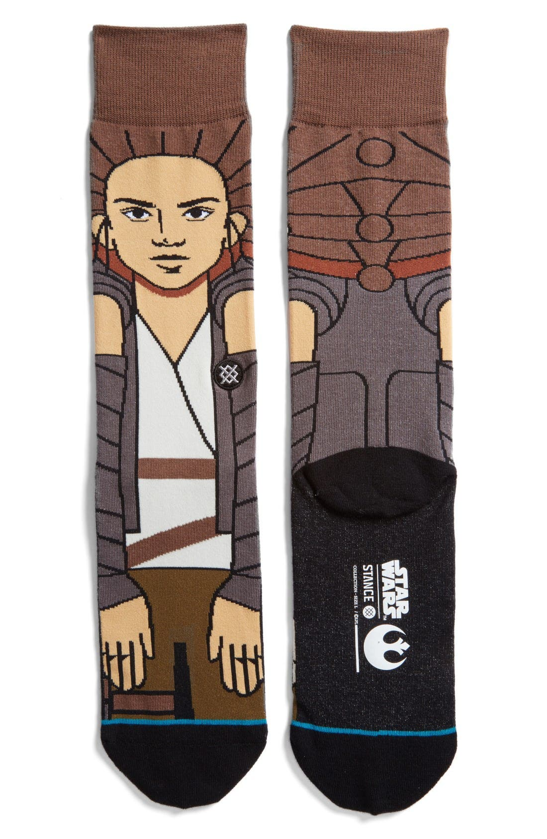 Star Wars Awakened Socks,                             Main thumbnail 1, color,                             Grey
