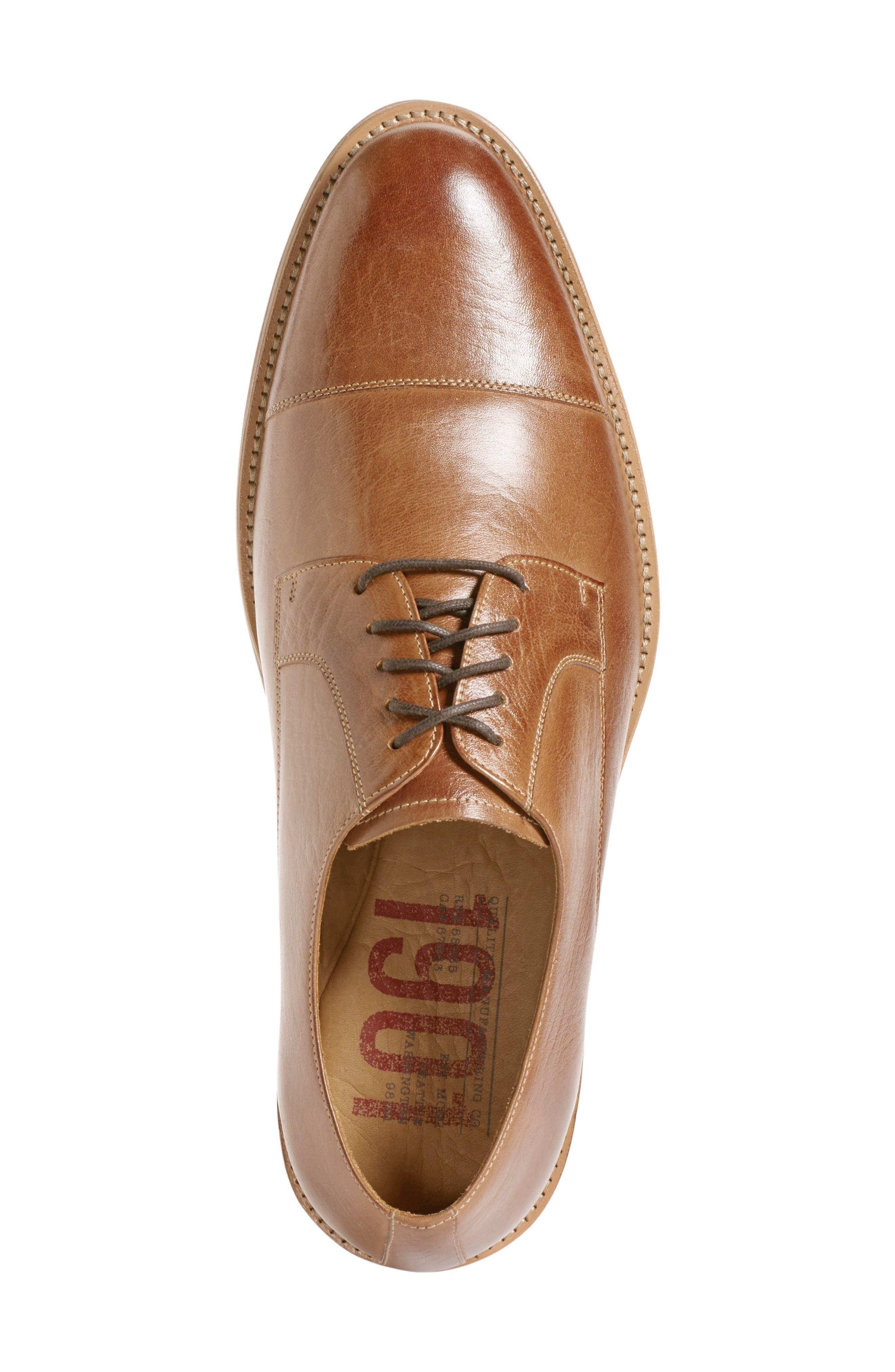 Poulsbo Cap Toe Derby,                             Alternate thumbnail 3, color,                             Tan Leather