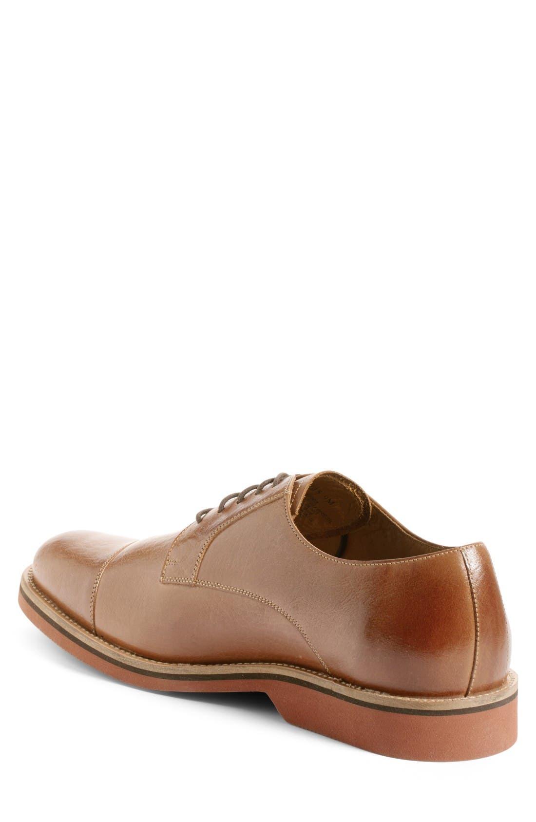 Poulsbo Cap Toe Derby,                             Alternate thumbnail 2, color,                             Tan Leather