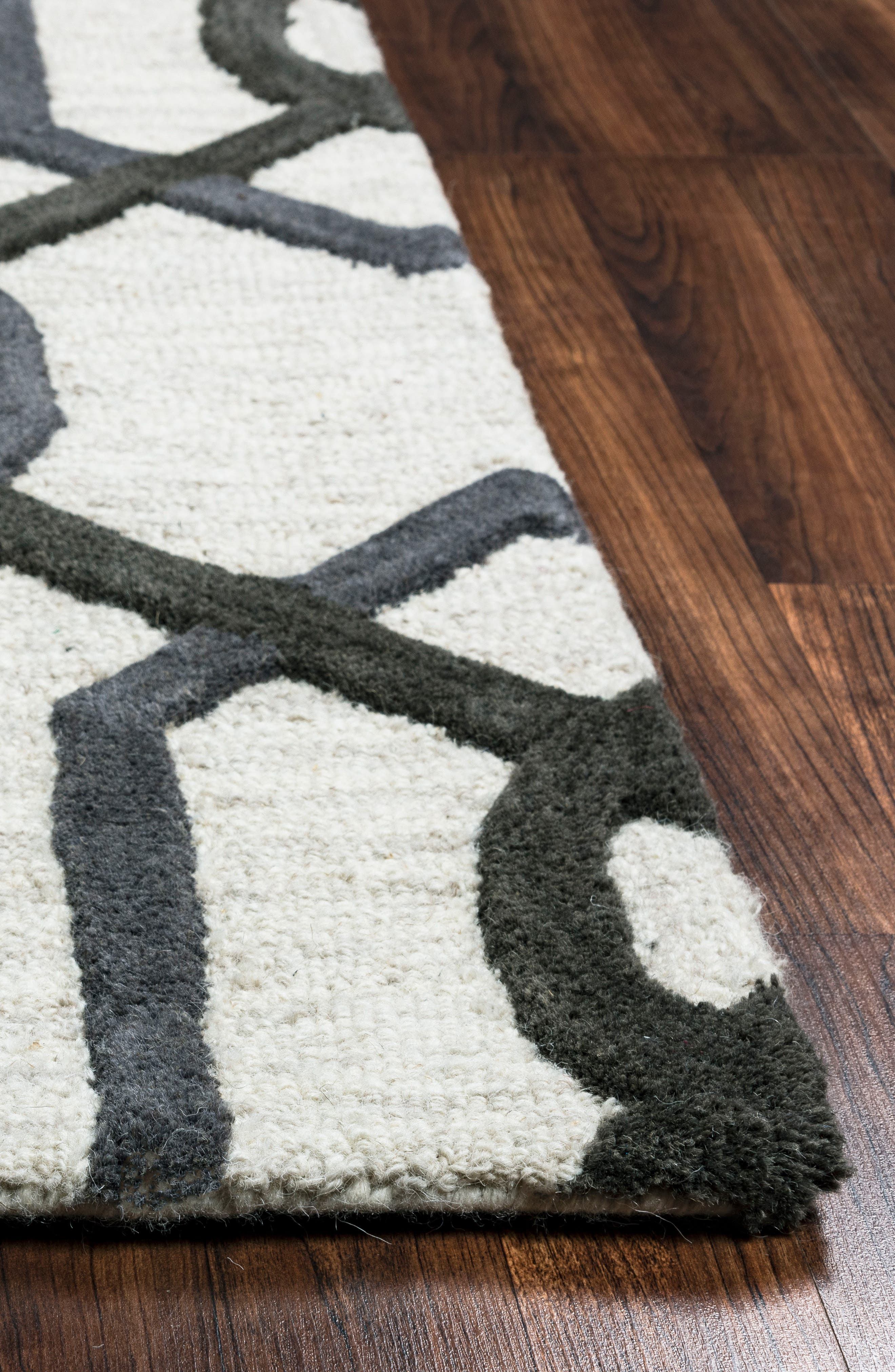 Alternate Image 2  - Rizzy Home 'Caterine Lines' Hand Tufted Wool Area Rug