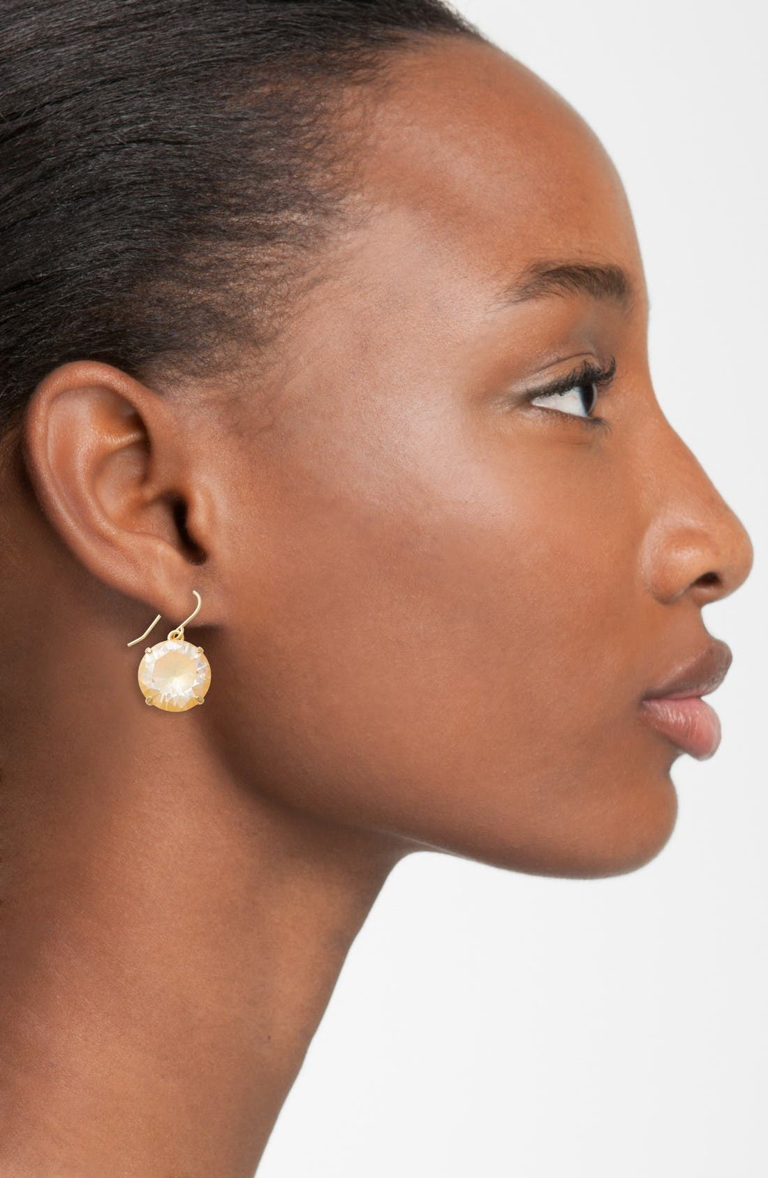 'shine on' drop earrings,                             Alternate thumbnail 2, color,                             Yellow