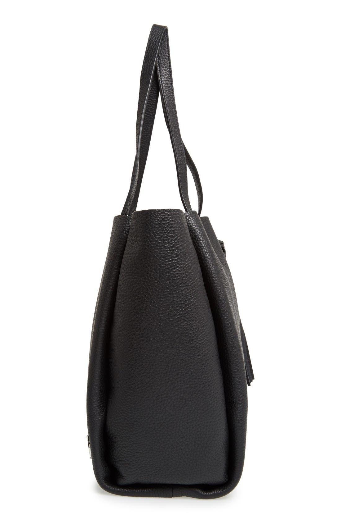Alternate Image 5  - Vince Camuto Small Taja Leather Tote with Tassel Charm