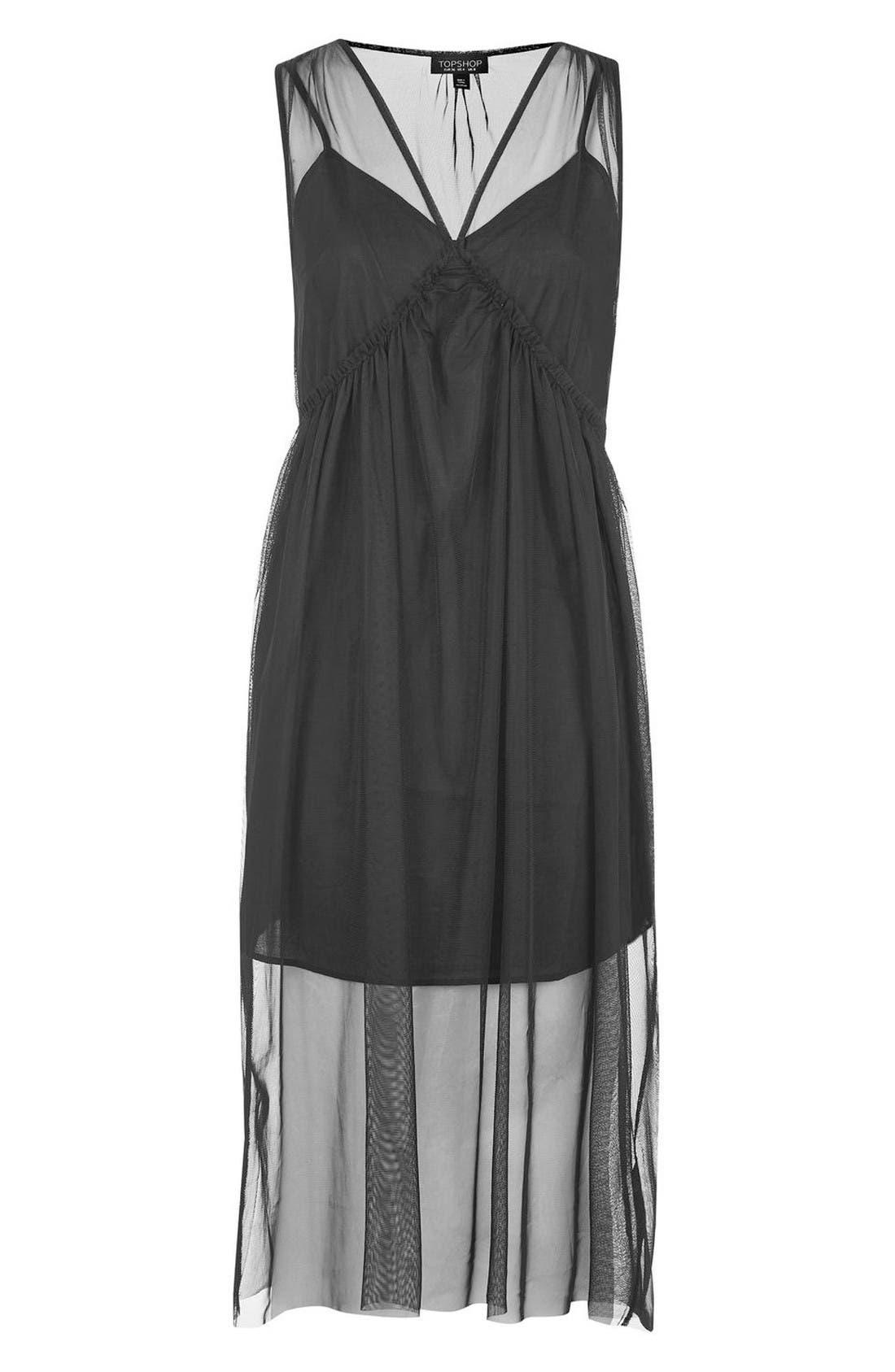 Alternate Image 5  - Topshop Tulle Midi Dress