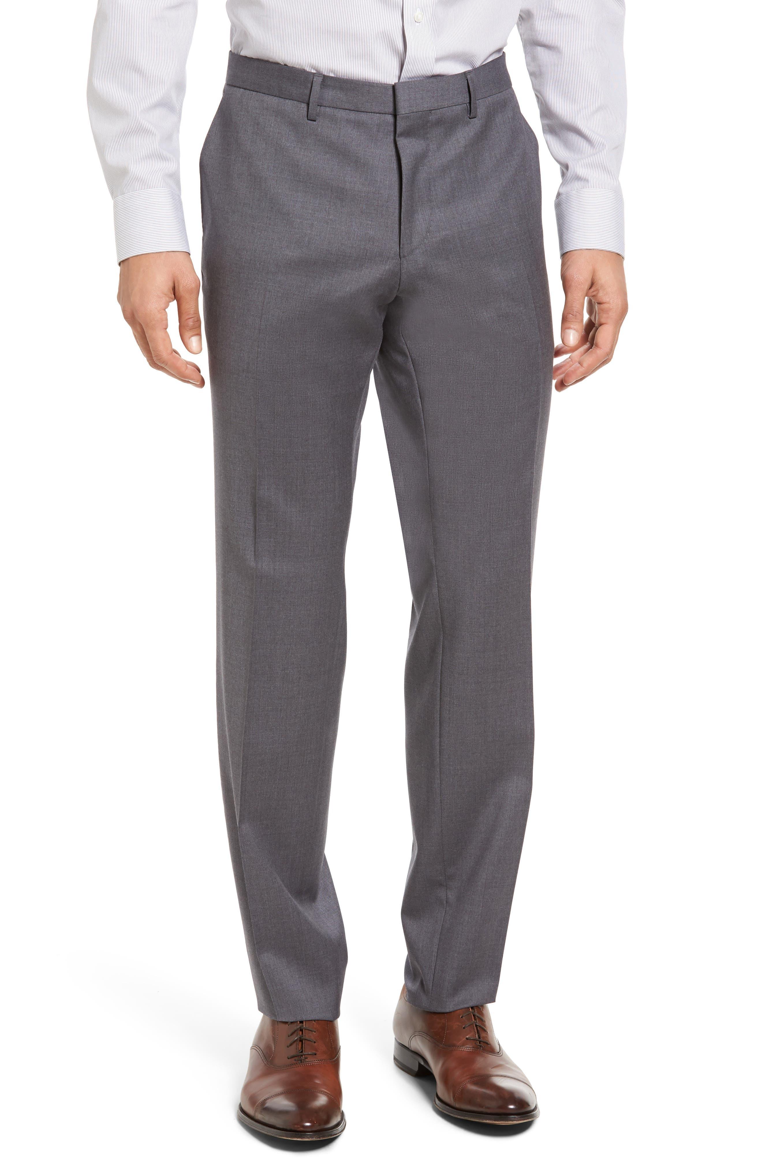 Ryan/Win Trim Fit Solid Wool Suit,                             Alternate thumbnail 6, color,                             Medium Grey