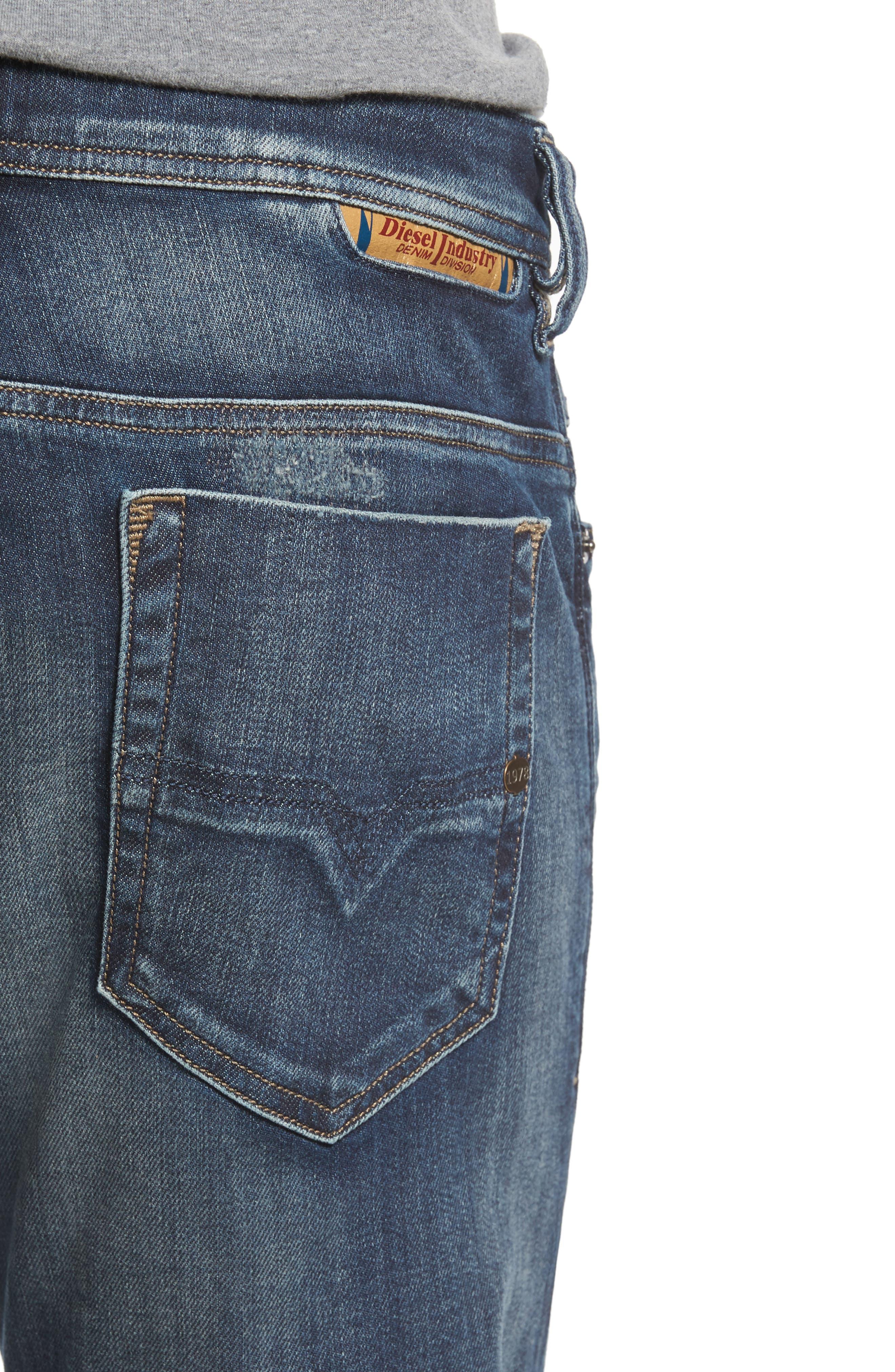 Safado Slim Straight Fit Jeans,                             Alternate thumbnail 4, color,                             860K