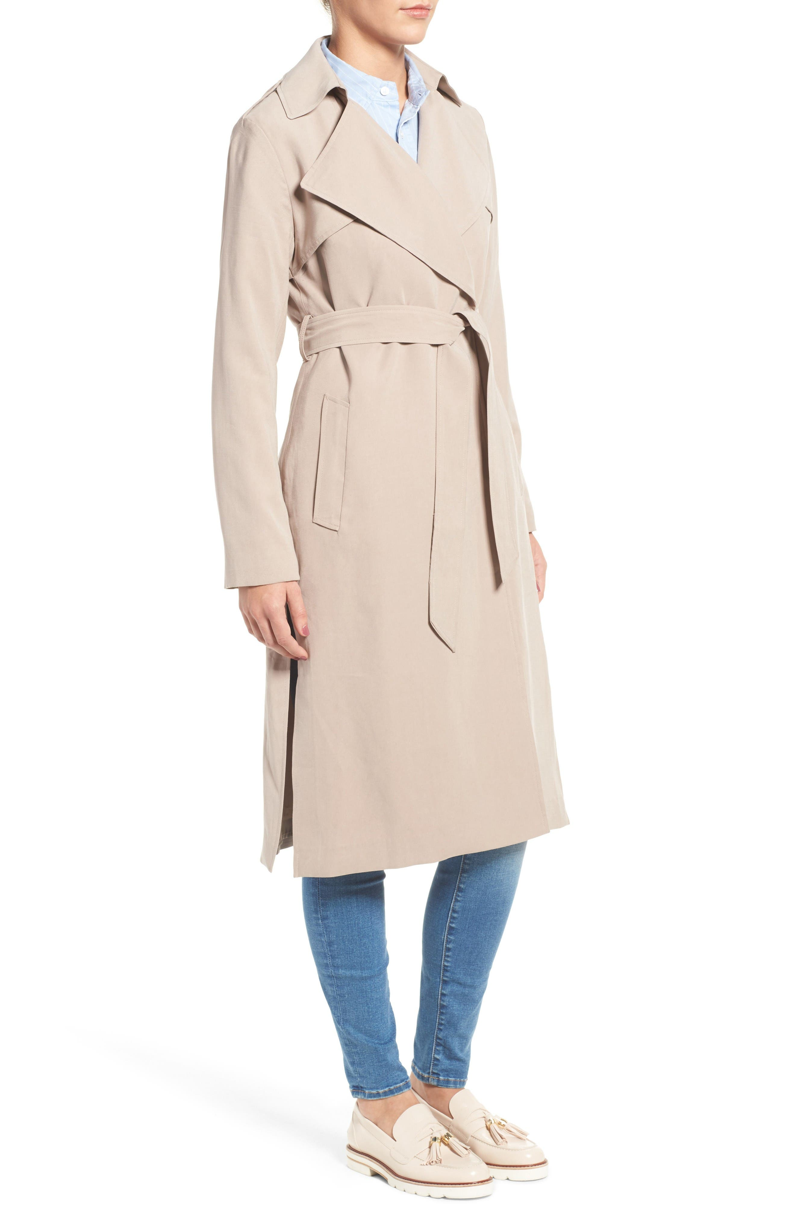 Alternate Image 3  - Cole Haan Signature Long Drapey Trench Coat
