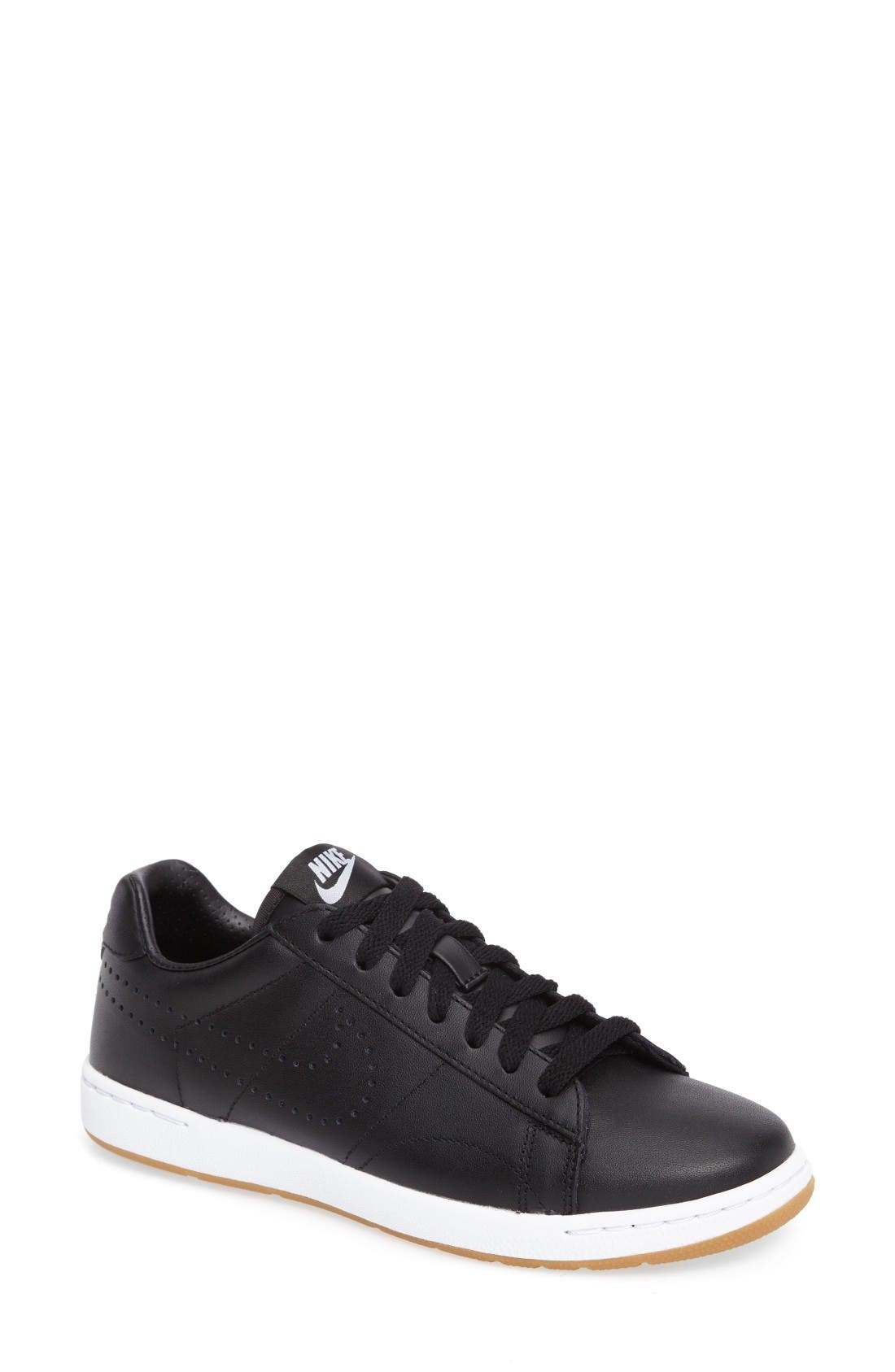 'Classic Ultra' Leather Sneaker,                             Main thumbnail 1, color,                             Black/ White/ Brown