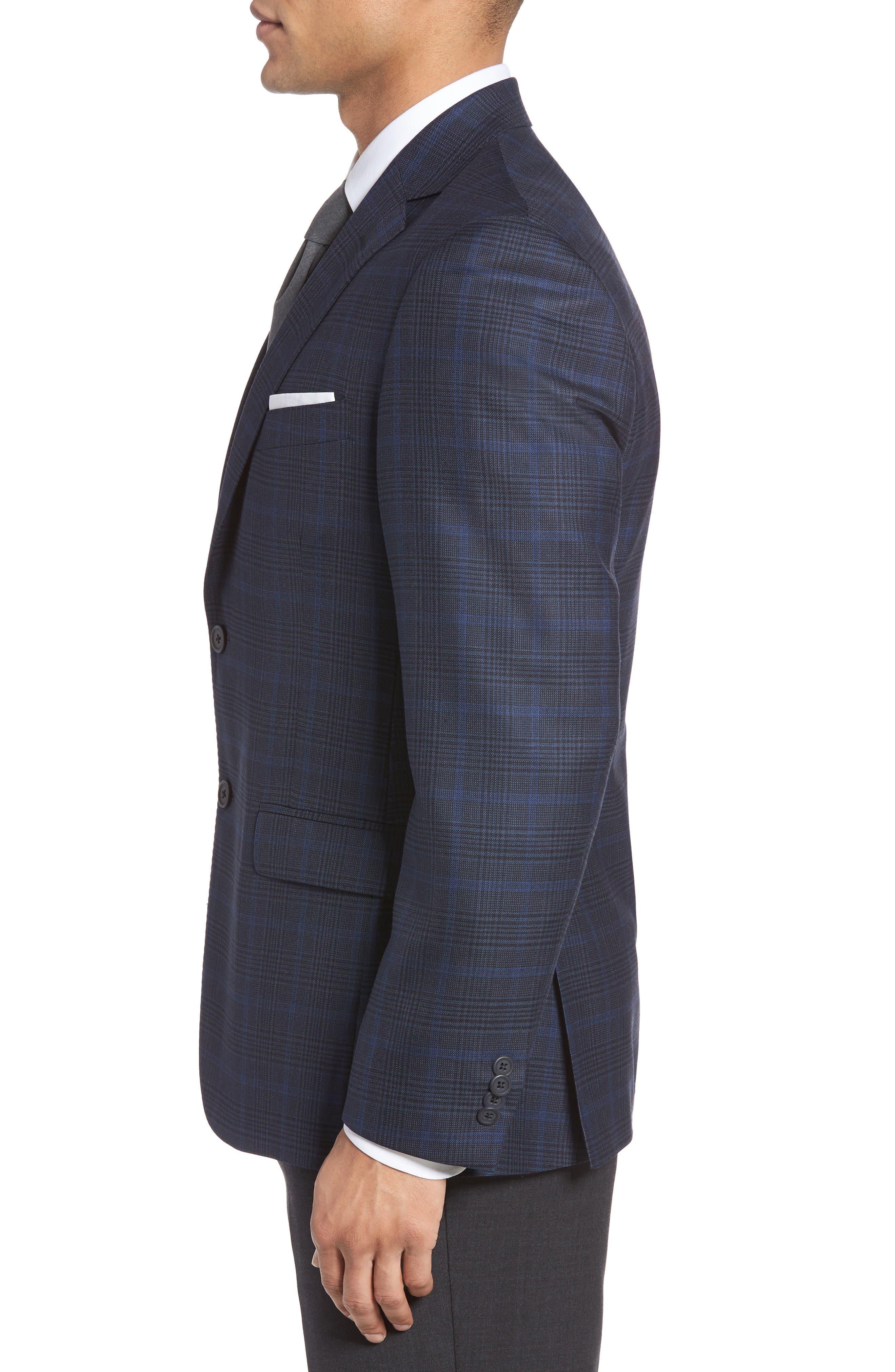 Alternate Image 3  - JB Britches Classic Fit Plaid Wool Sport Coat