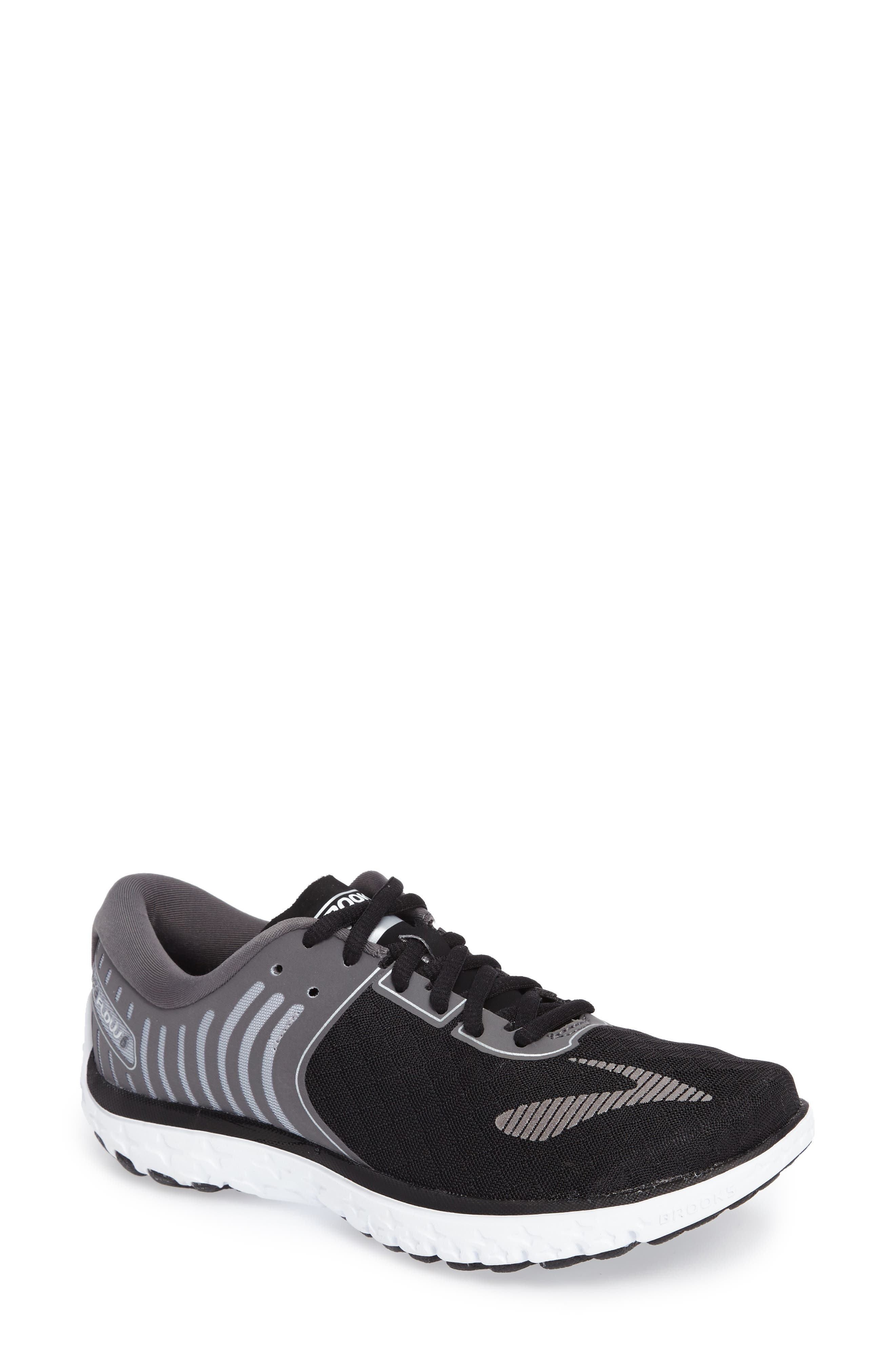 PureFlow 6 Running Shoe,                             Main thumbnail 1, color,                             Black/ Anthracite/ Silver