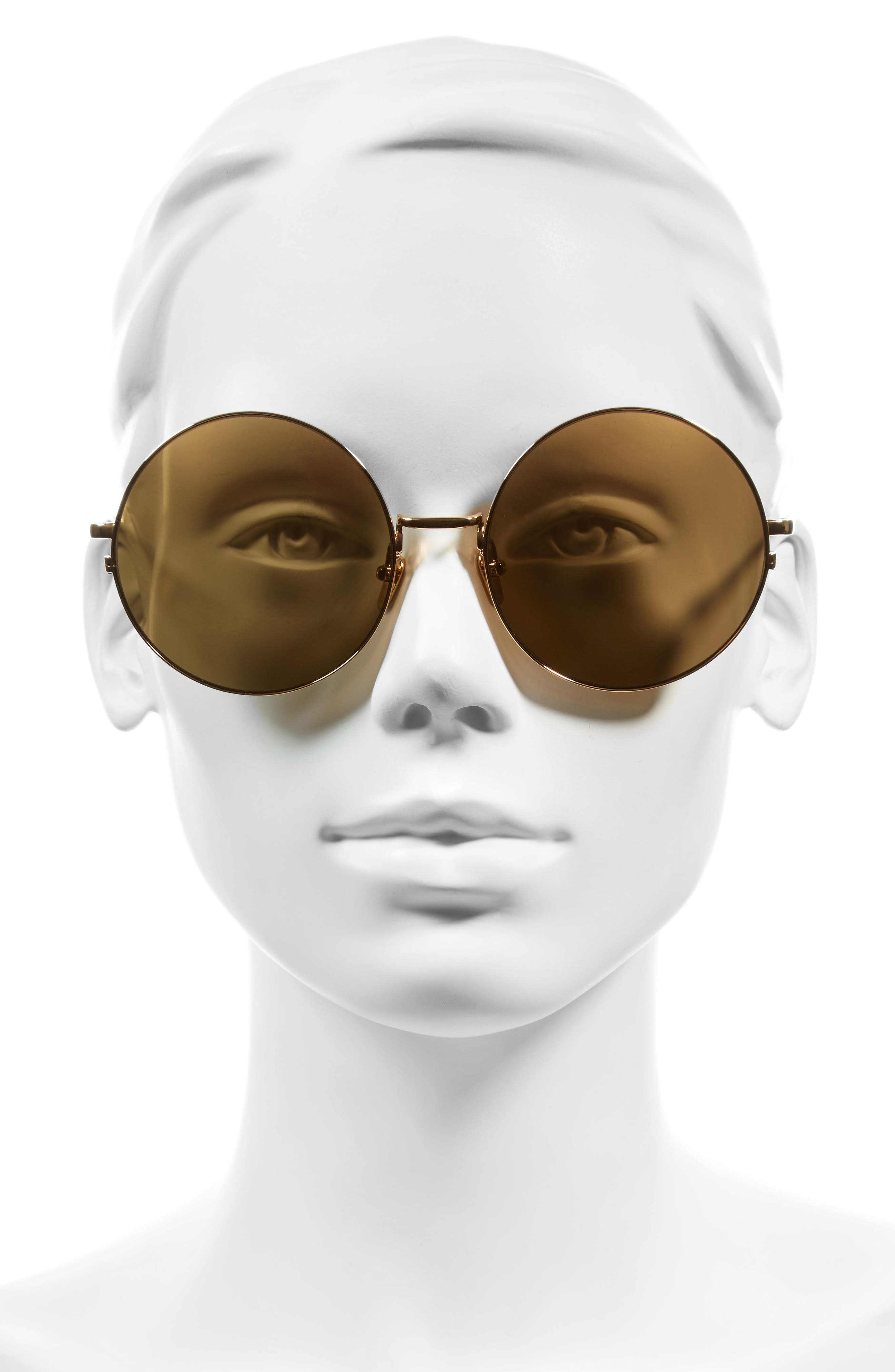 58mm 22 Karat Gold Trim Sunglasses,                             Alternate thumbnail 2, color,                             Yellow Gold/ Gold