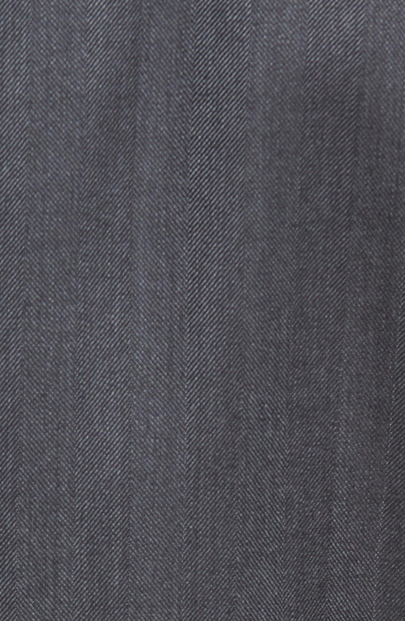 Classic Fit Herringbone Wool Sport Coat,                             Alternate thumbnail 5, color,                             Charcoal