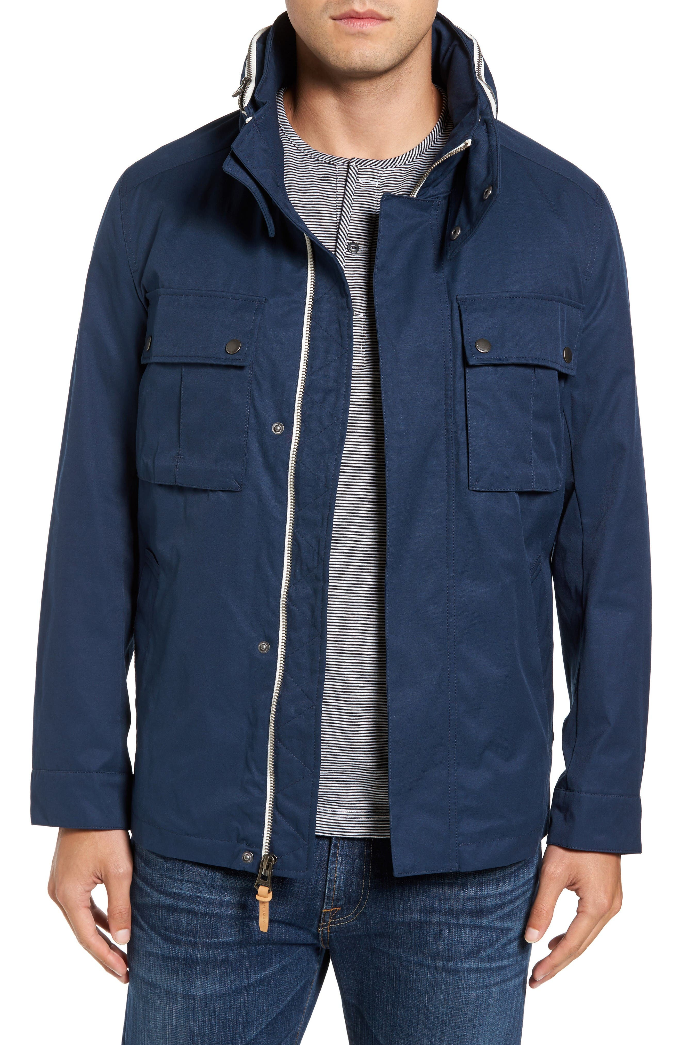 Military Oxford Jacket,                             Main thumbnail 1, color,                             Indigo